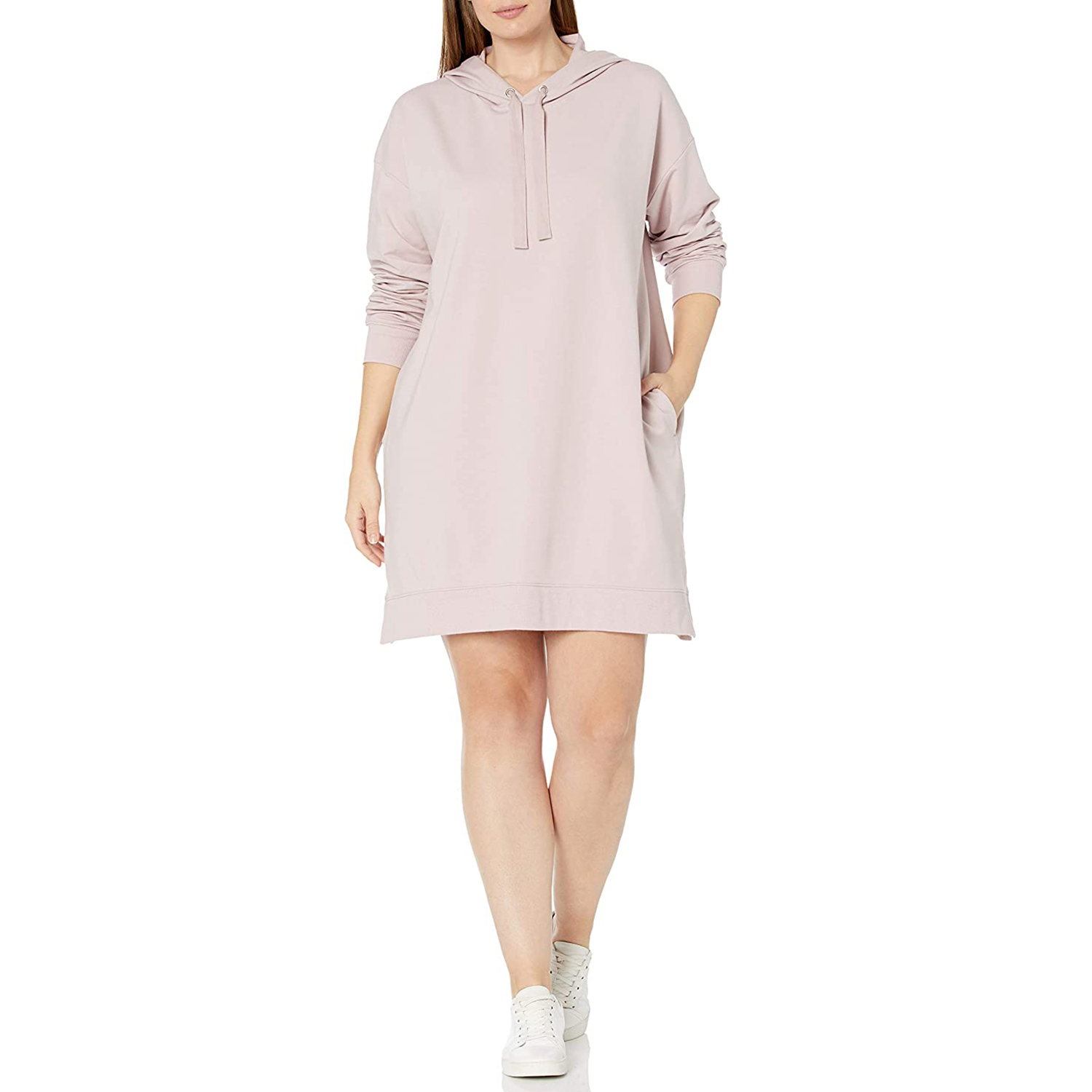 The Drop Women's Iona Long Sleeve Hooded Mini Sweatshirt Dress