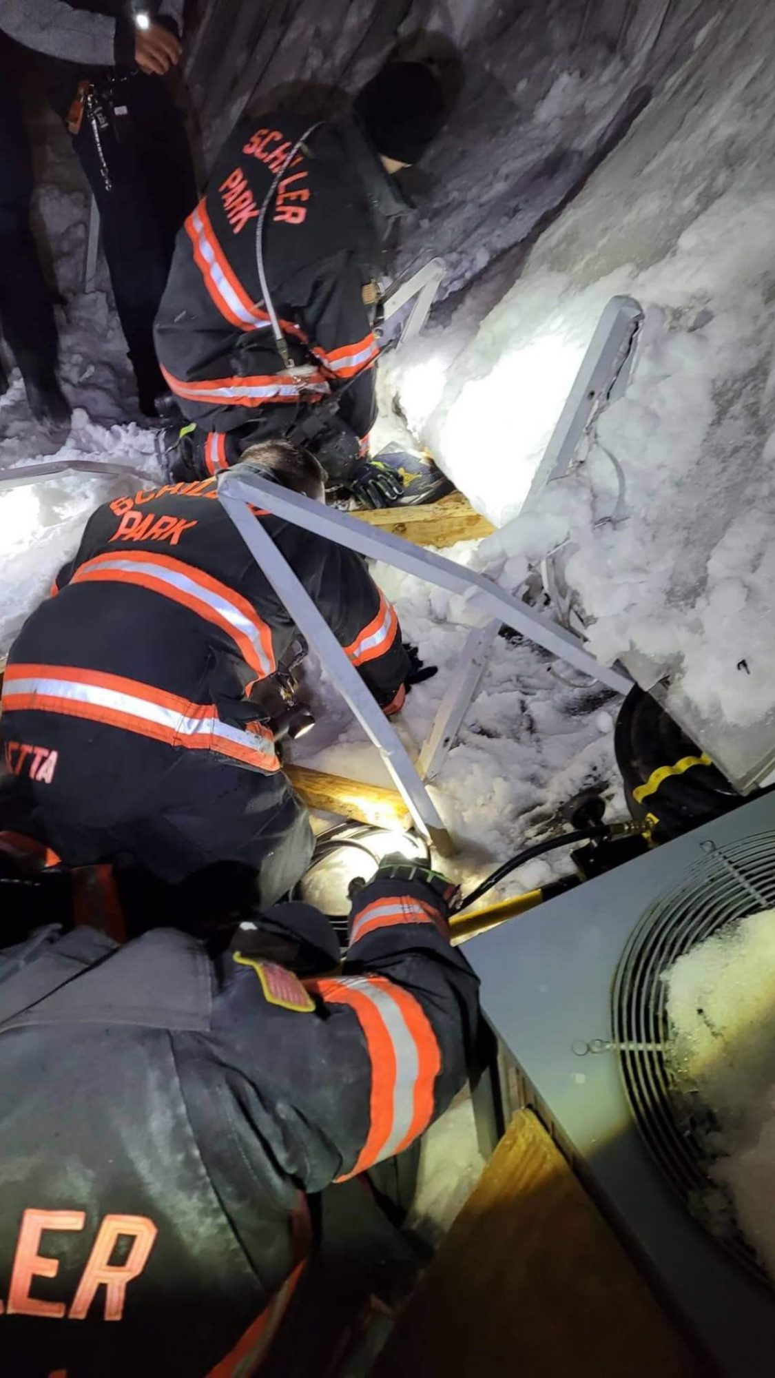 Woman Rescued After Spending 10 Hours Trapped Beneath Snowy Awning in Freezing Backyard