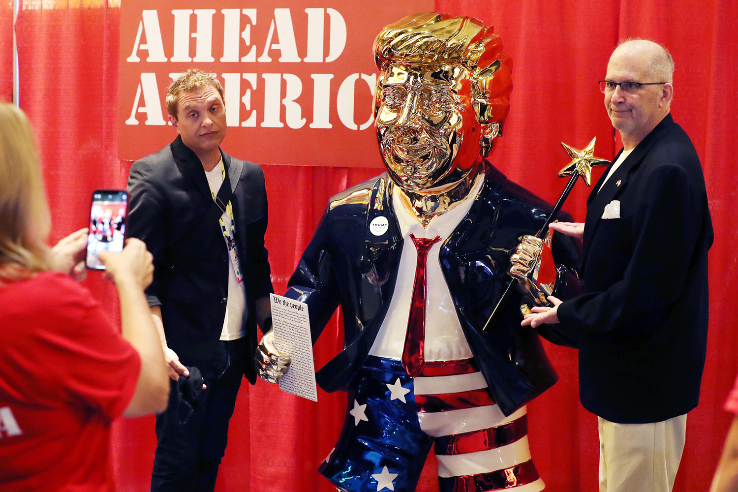 CPAC Golden Trump Statue