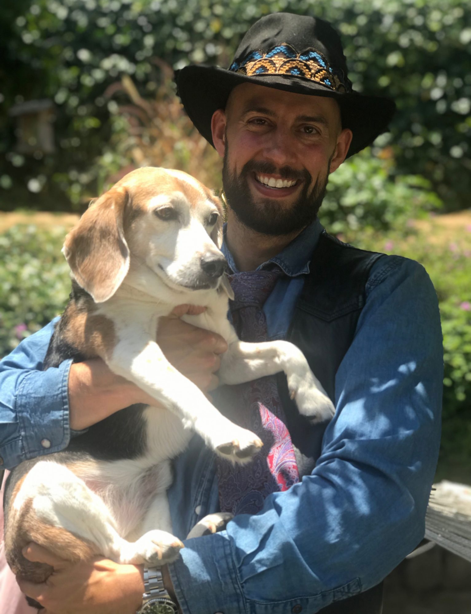 Ryan Fischer and Pescatore's dog, Remington