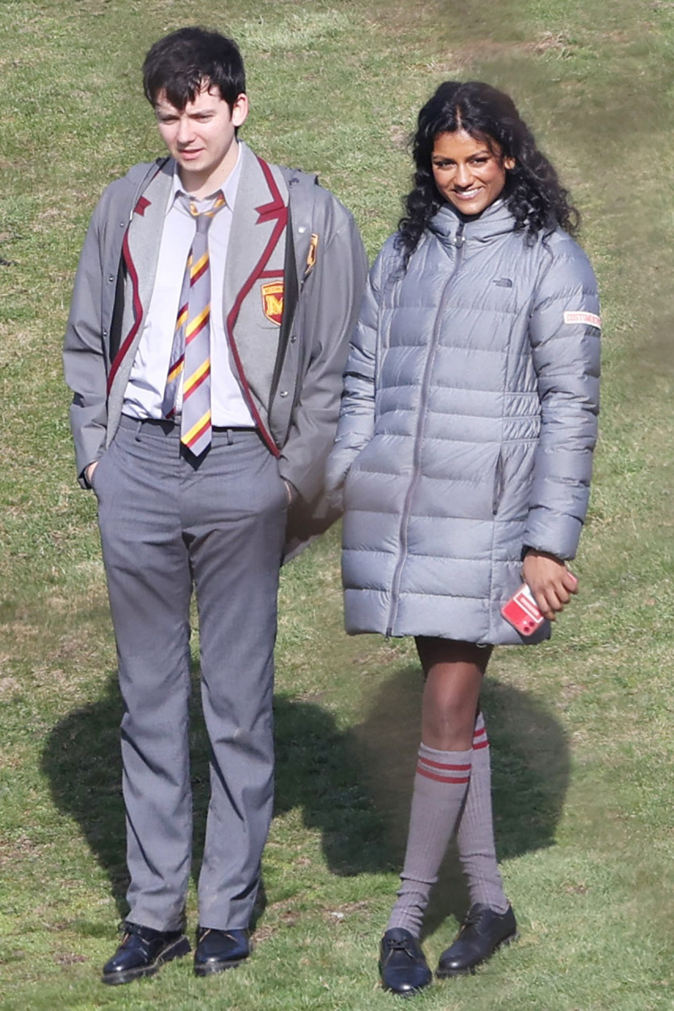 Simone Ashley was spotted filming the third series of 'Sex Education' in Kent, alongside regular co-star Asa Butterfield