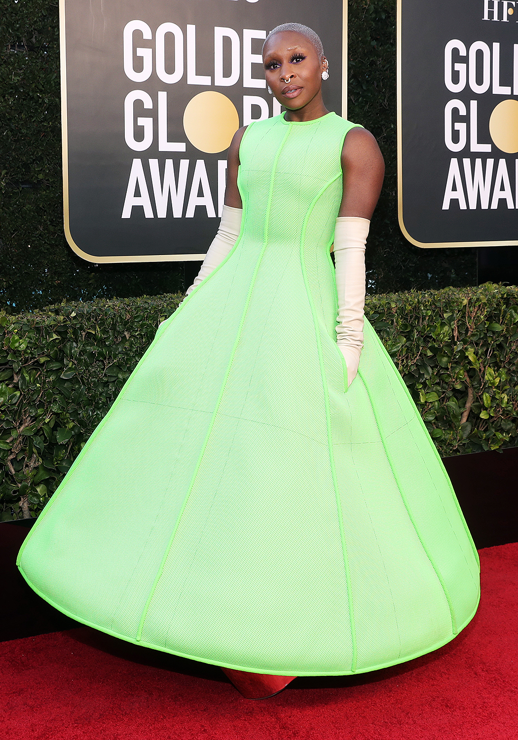 Cynthia Erivo attends the 78th Annual Golden Globe Awards held at The Beverly Hilton and broadcast on February 28, 2021 i
