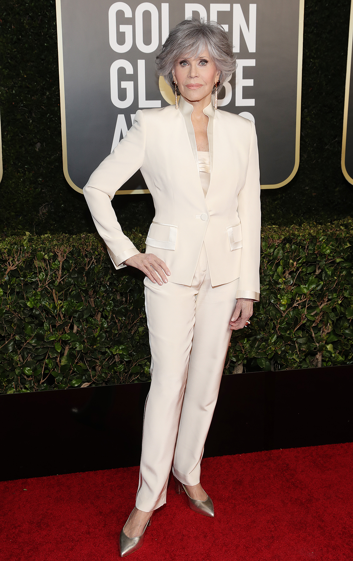 Jane Fonda attends the 78th Annual Golden Globe Awards held at The Beverly Hilton and broadcast on February 28, 2021