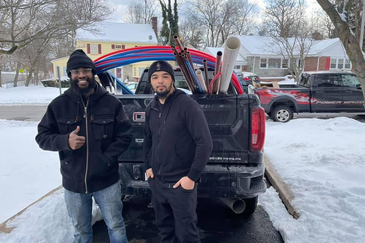 New Jersey Plumber Drives His Family to Texas to Help After Winter Storm