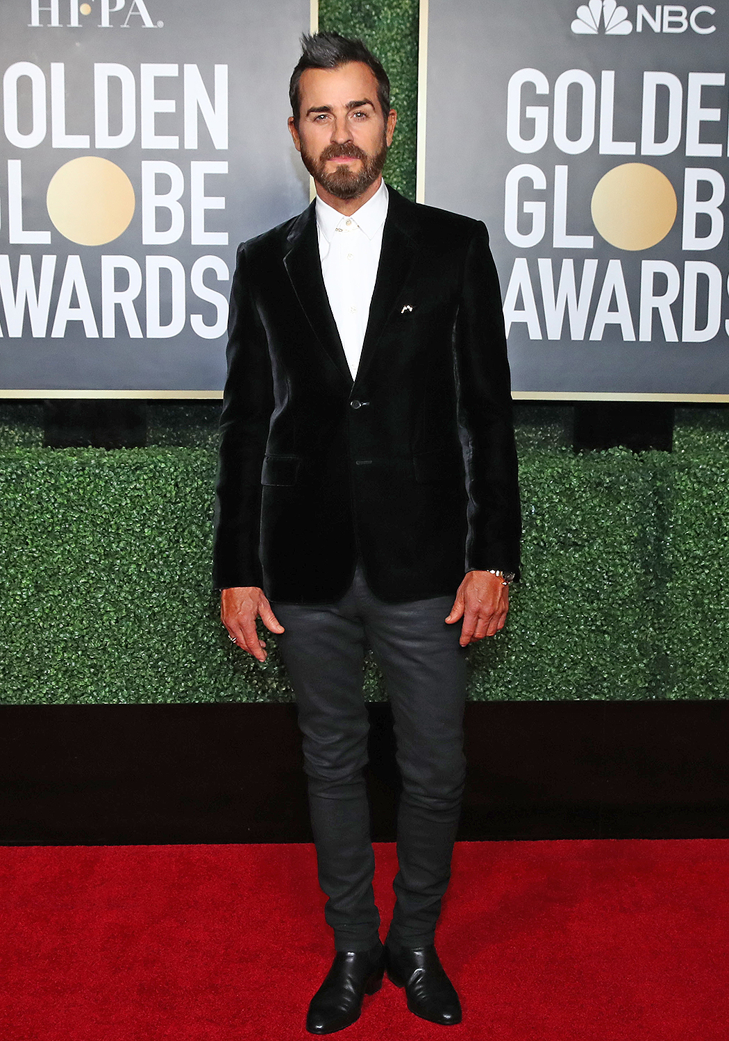 NEW YORK, NEW YORK: 78th Annual GOLDEN GLOBE AWARDS -- Pictured: Justin Theroux attends the 78th Annual Golden Globe Awards held at The Rainbow Room and broadcast on February 28, 2021 in New York, New York