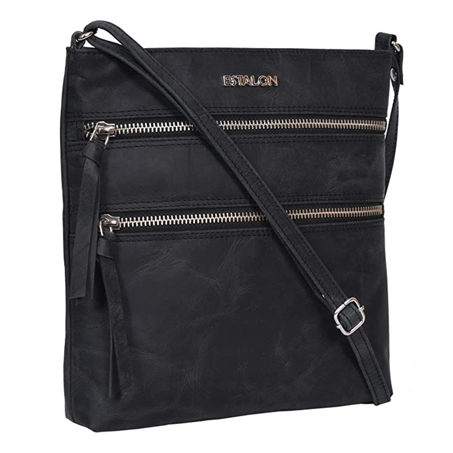 Leather Crossbody Purse for Women- Small Crossover Cross Body Bag