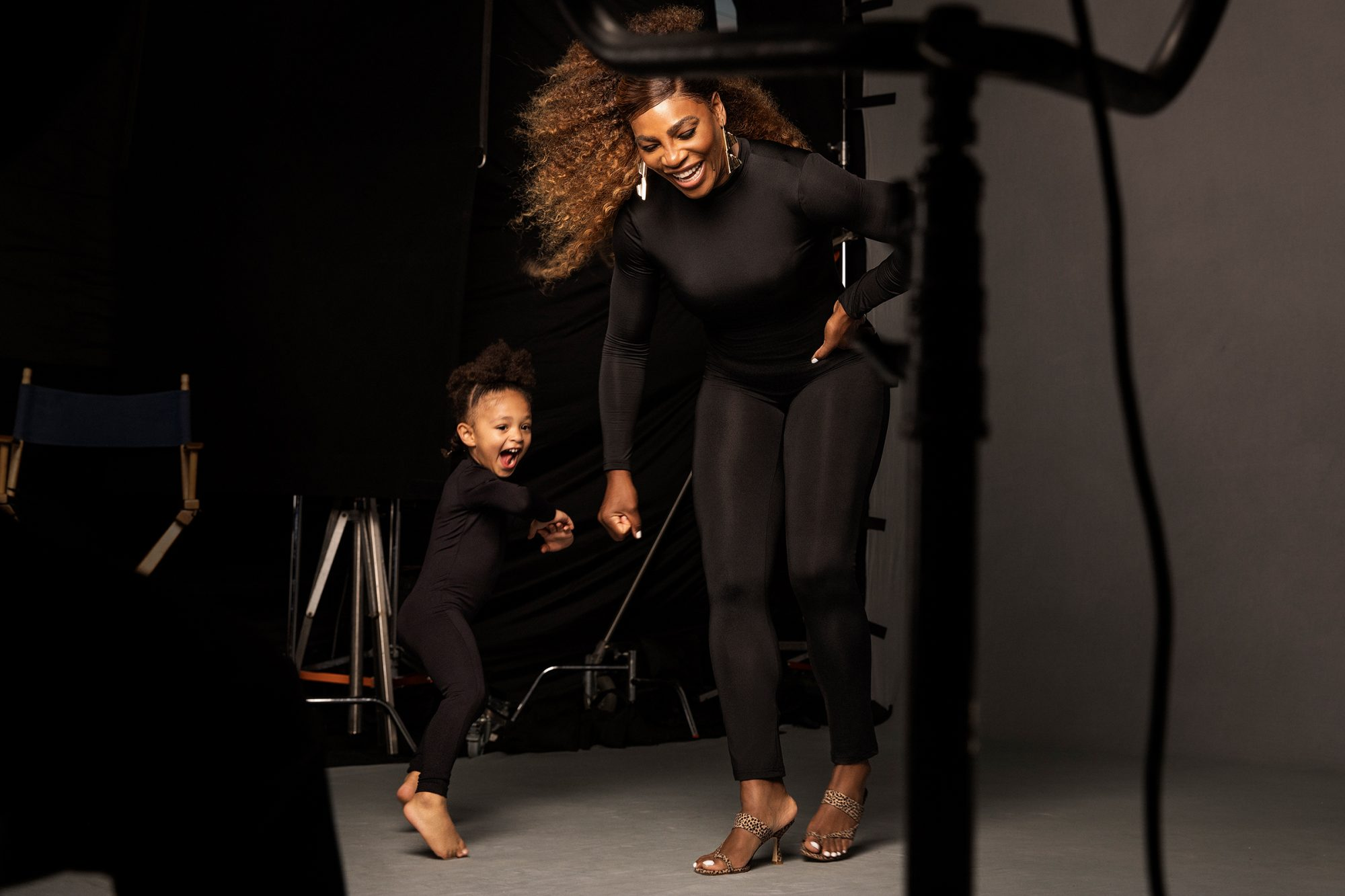 """Serena Williams joined by daughter Alexia """"Olympia"""" Ohanian Jr., 3, for Stuart Weitzman campaign photo"""