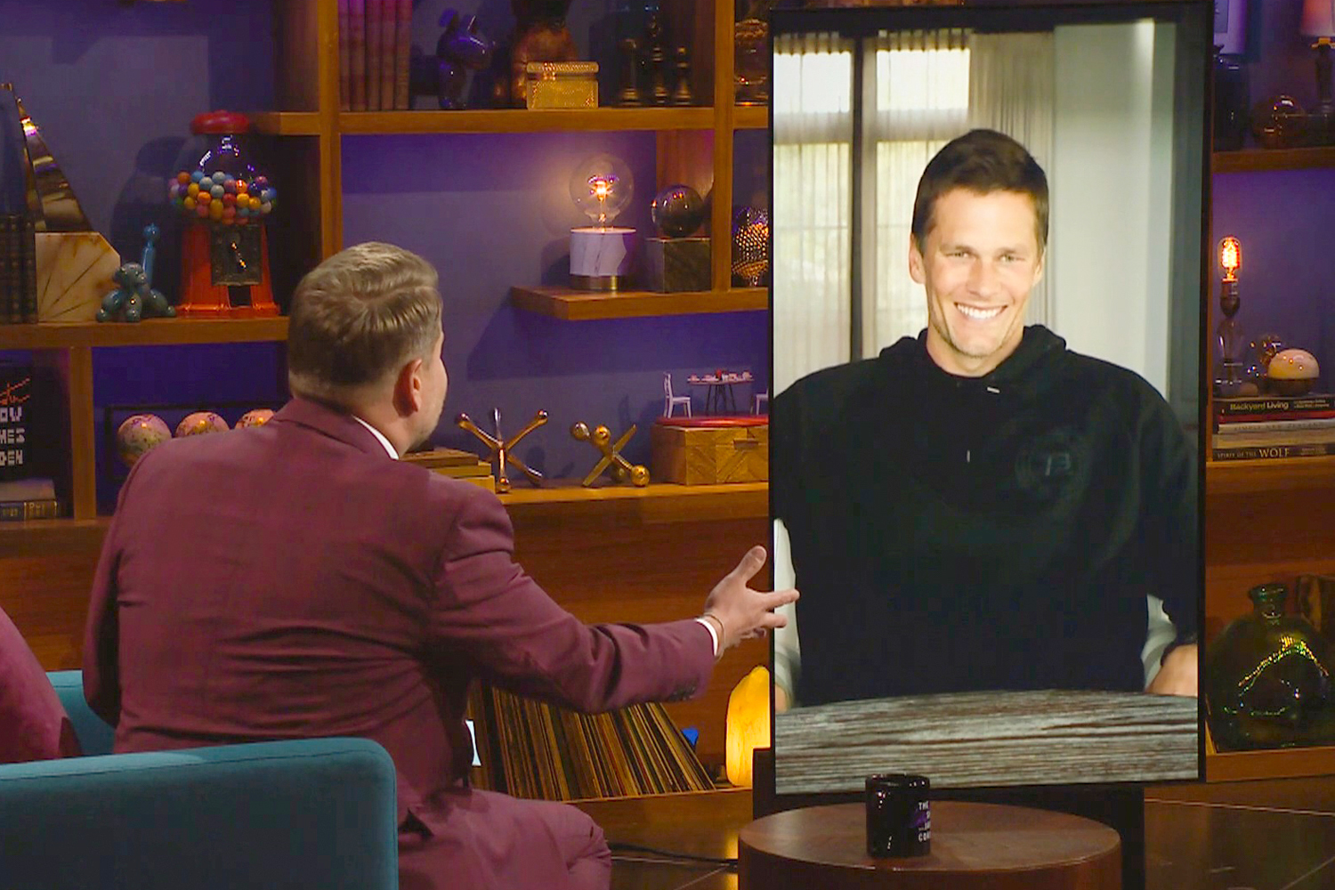 James chats with Tom Brady on THE LATE LATE SHOW WITH JAMES CORDEN