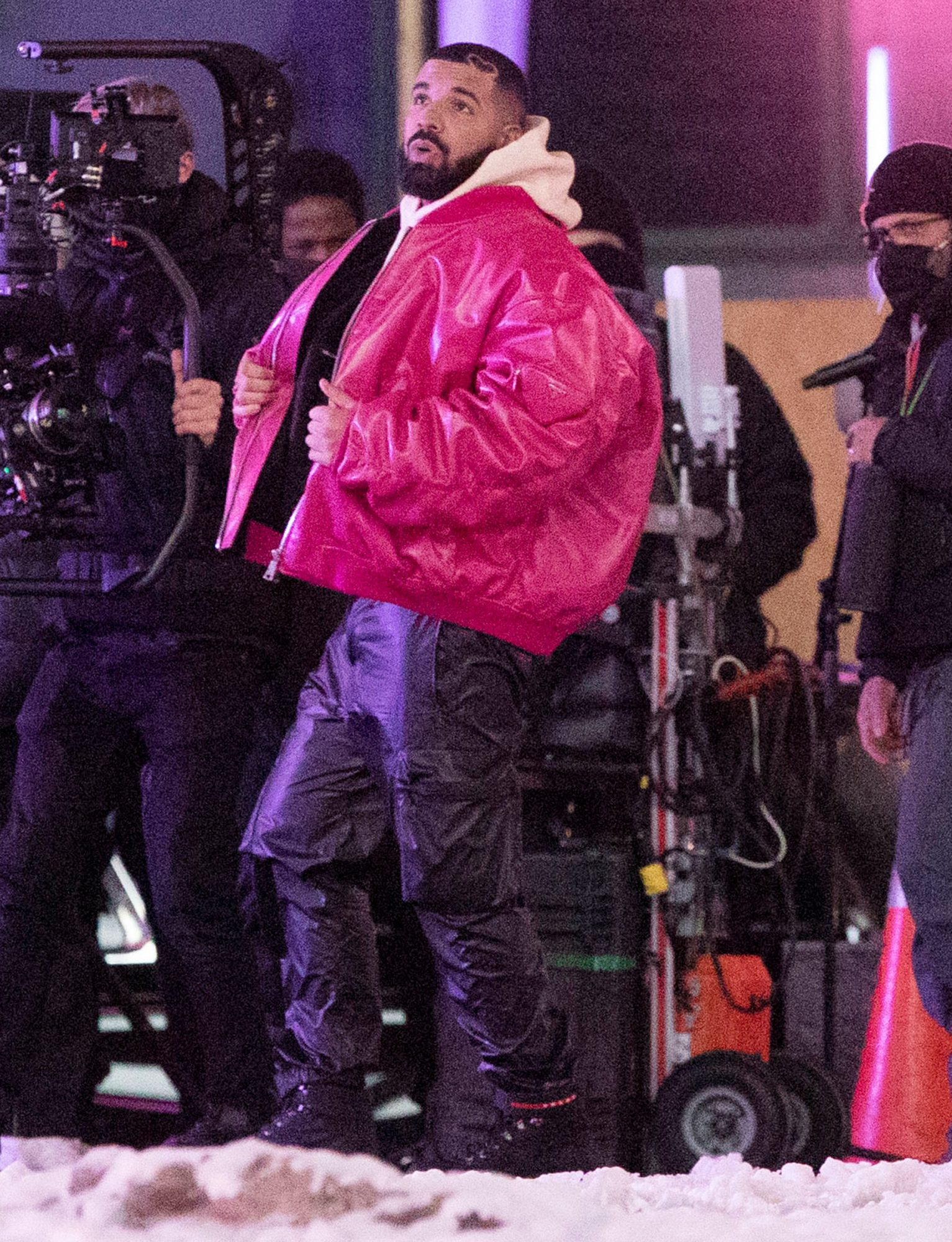 Drake Shoots a New Music Video in Toronto, Canada.