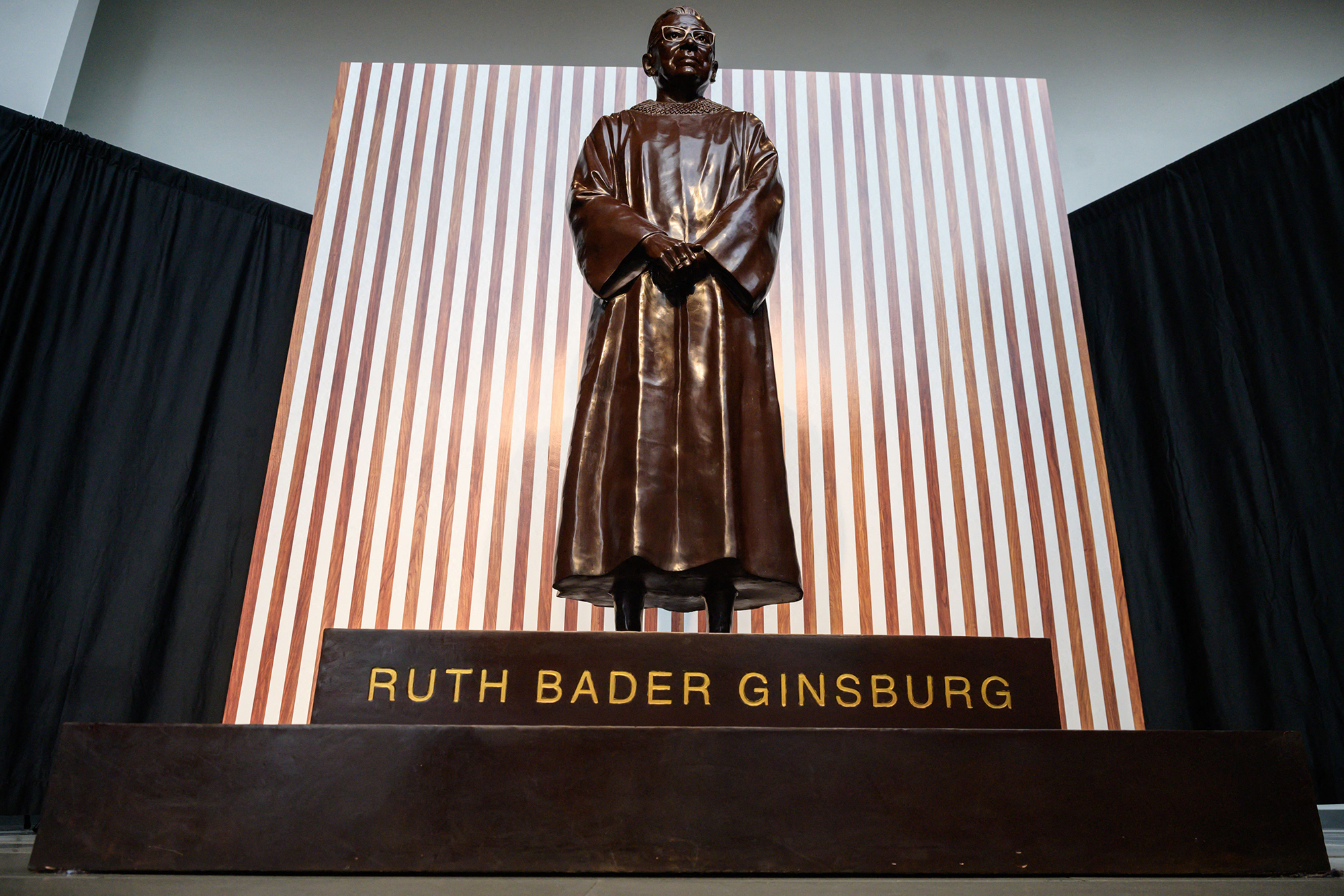 Ruth Bader Ginsburg statue unveiling