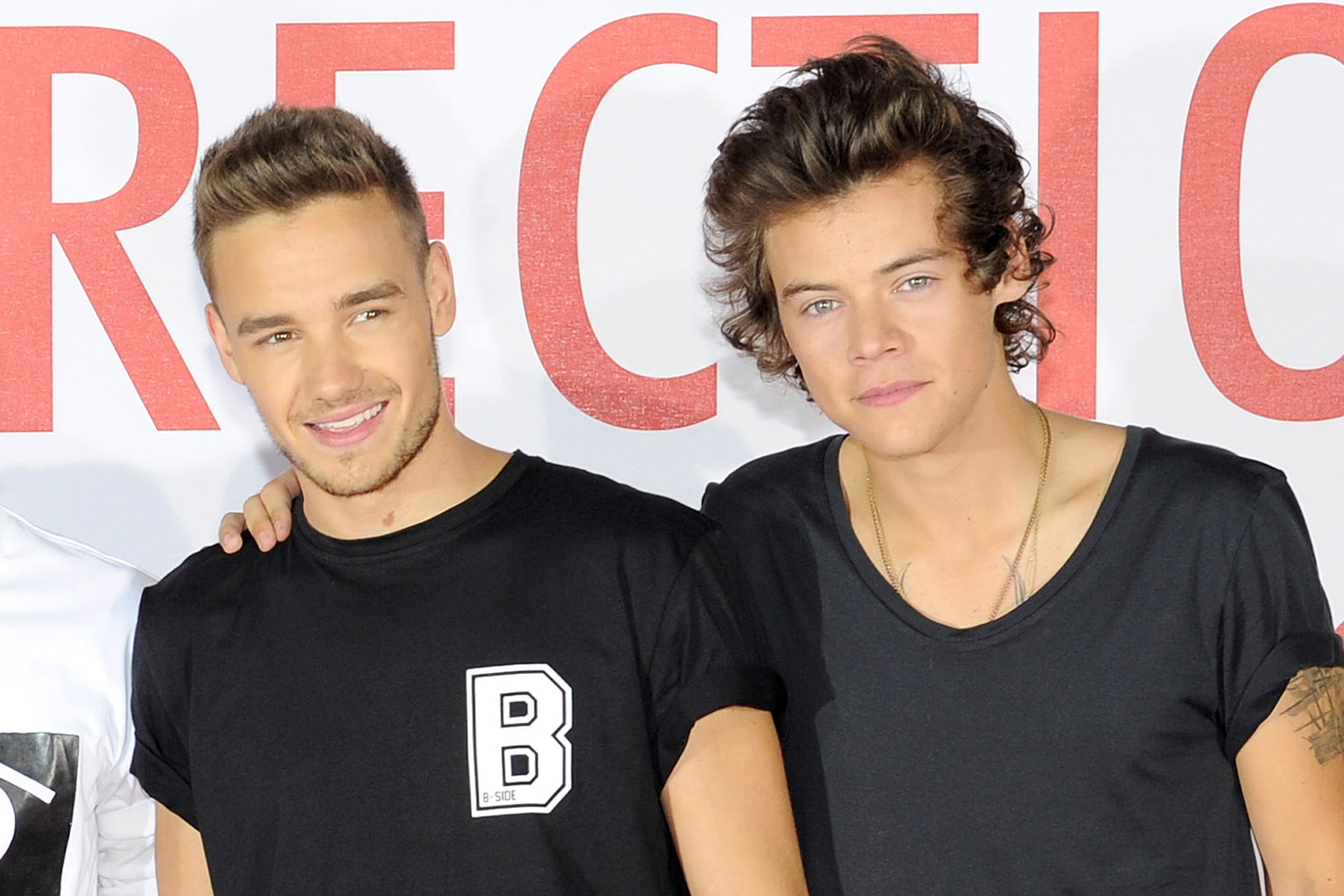 Liam Payne (L) and Harry Styles