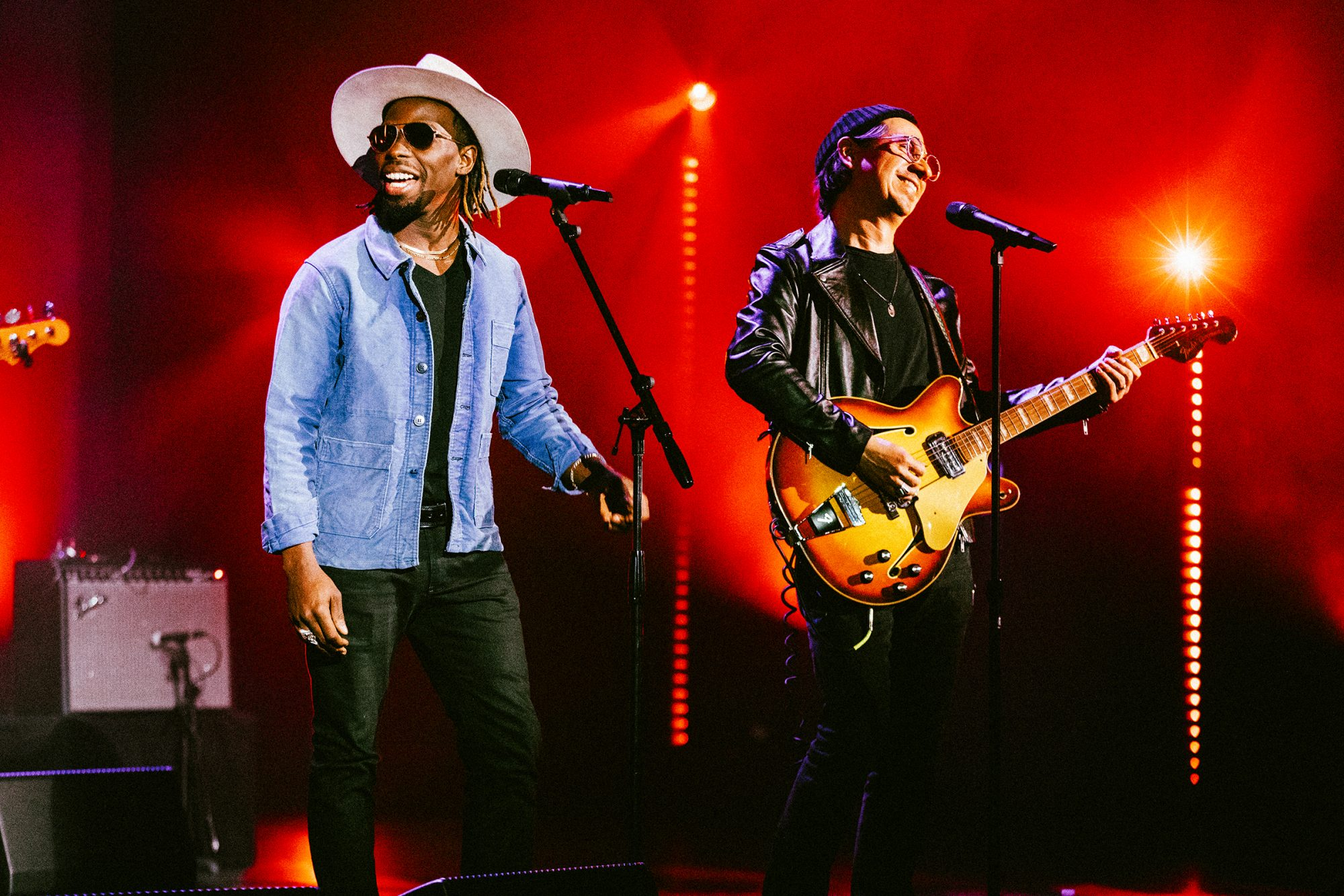 Black Pumas performed virtually for Verizon Up members for a pre-GRAMMYs 5G concert at The Wiltern in Los Angeles on Saturday, March 13, 2021