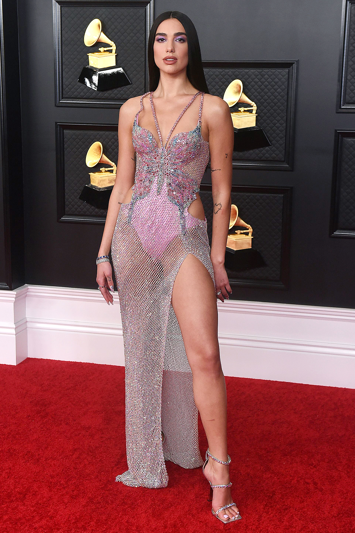 Dua Lipa arrives at the 63rd annual Grammy Awards at the Los Angeles Convention Center on 63rd Annual Grammy Awards - Arrivals, Los Angeles, United States - 14 Mar 2021