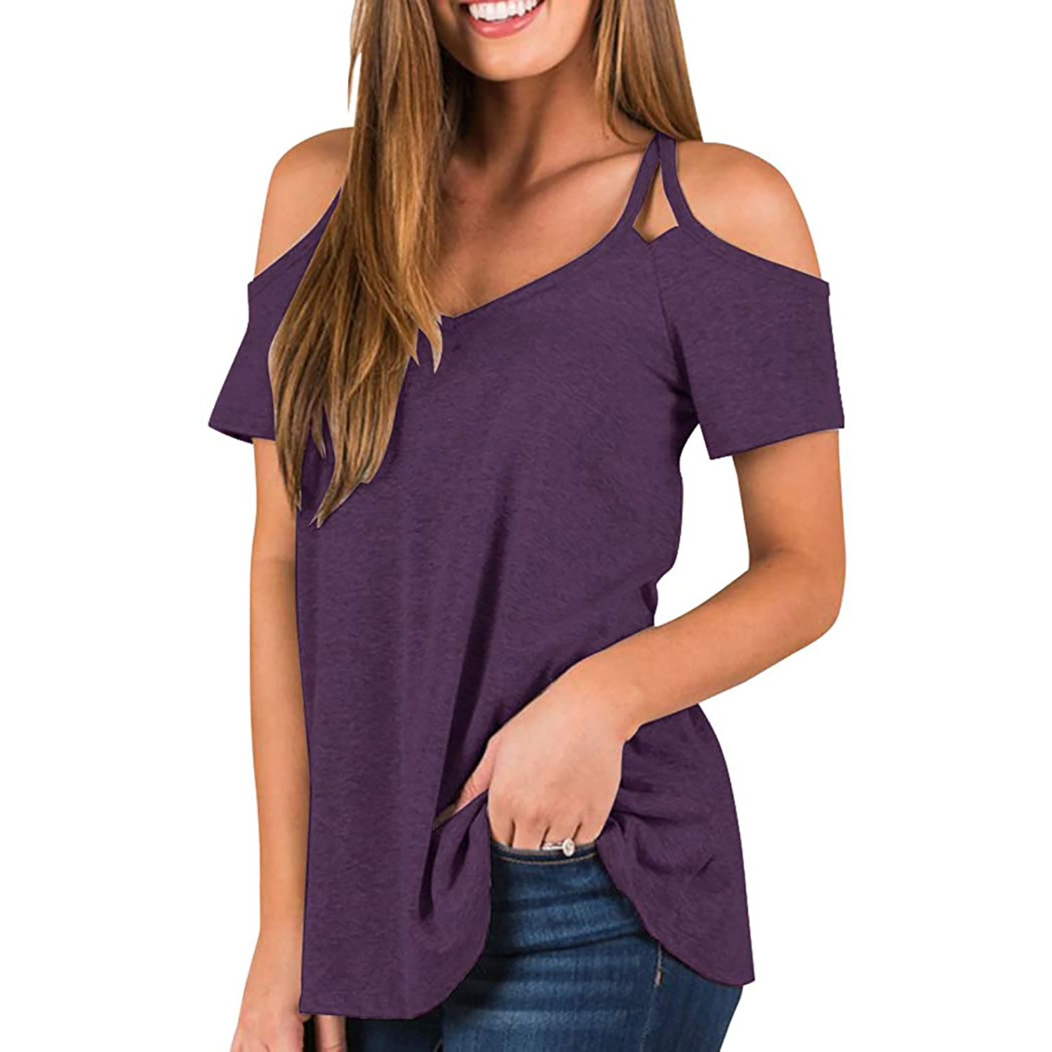 Amazon cold shoulder tops