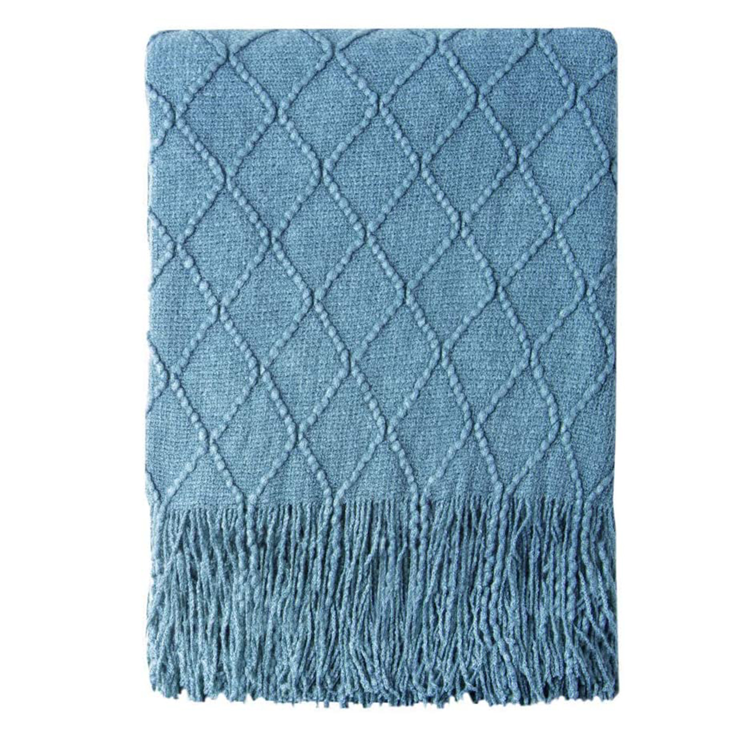 Bourina Knitted Throw Blanket Soft Sofa Throw Couch Blanket