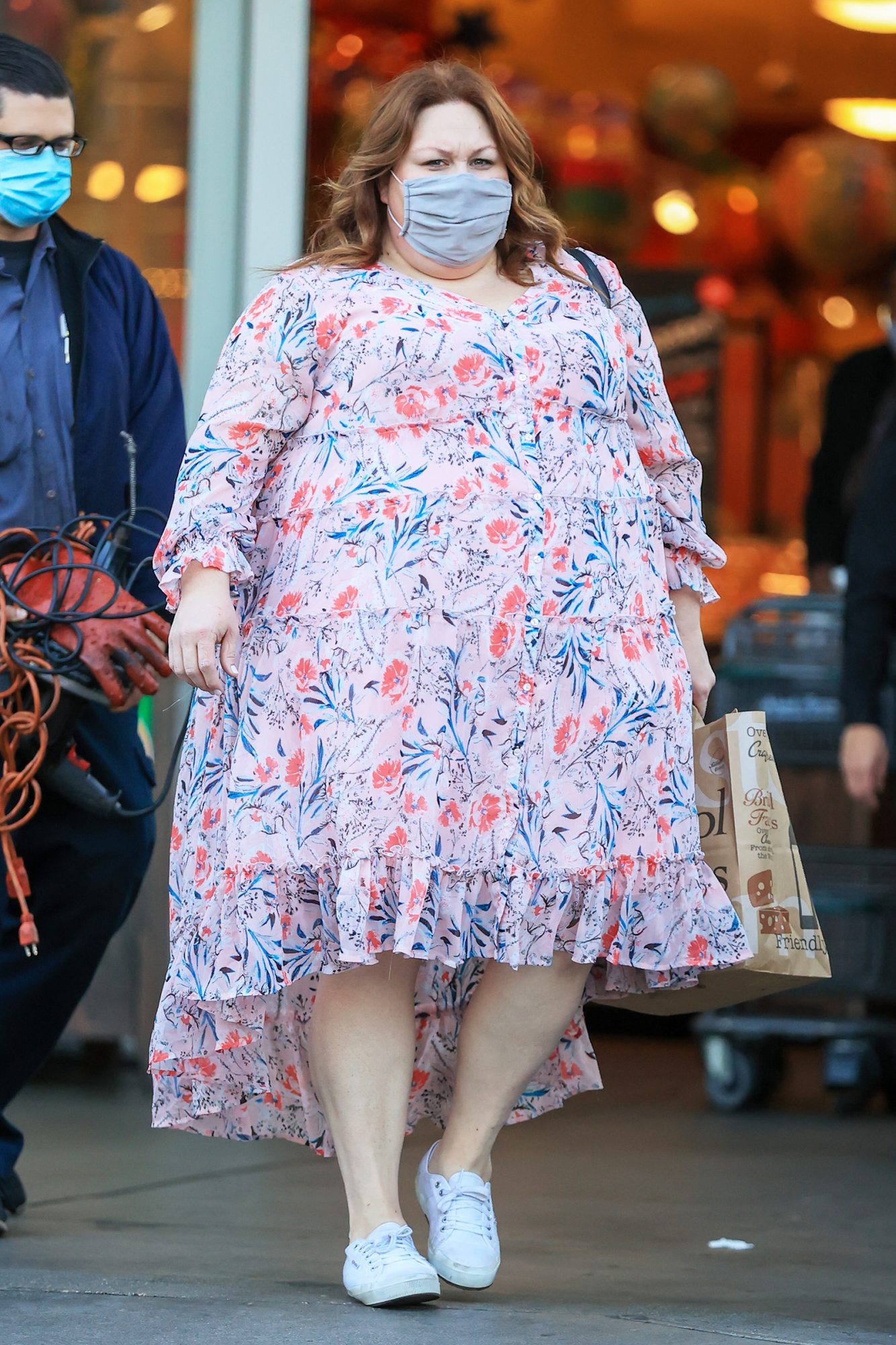 Chrissy Metz is all smiles while grocery shopping at Bristol Farms