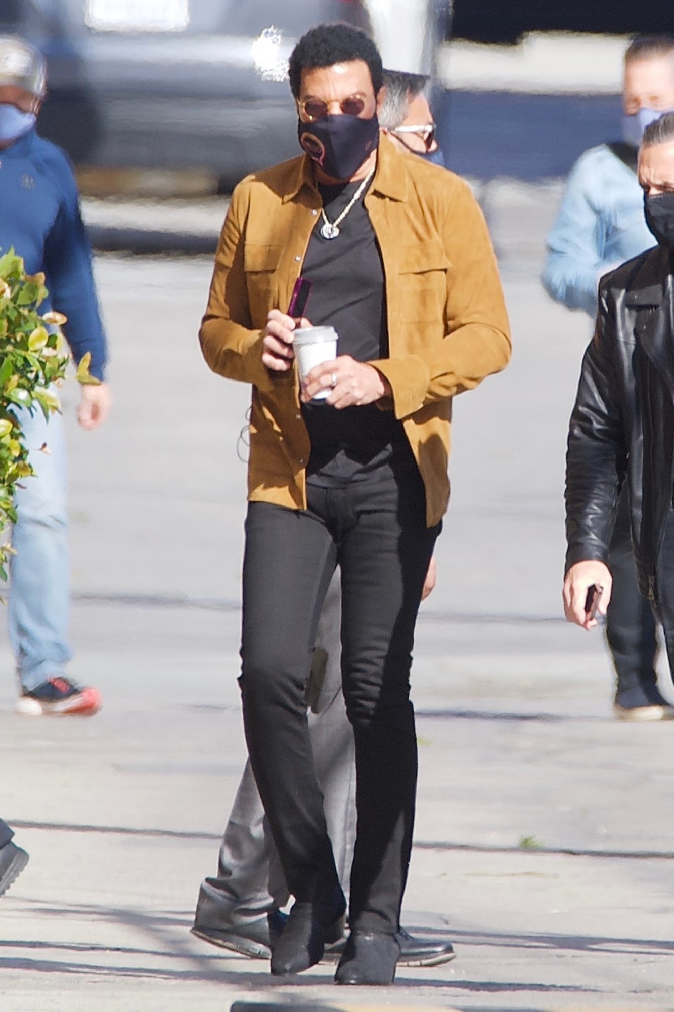 Lionel Richie Heads To Work At A Film Studio In Hollywood CA