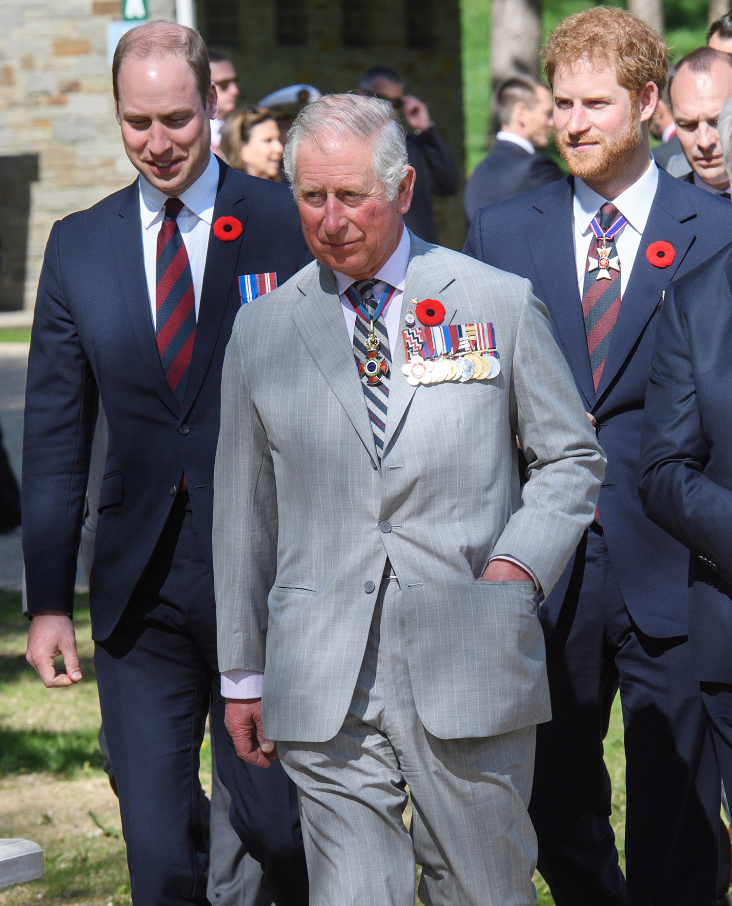 Prince Charles, Prince of Wales, Prince William, Duke of Cambridge and Prince Harry