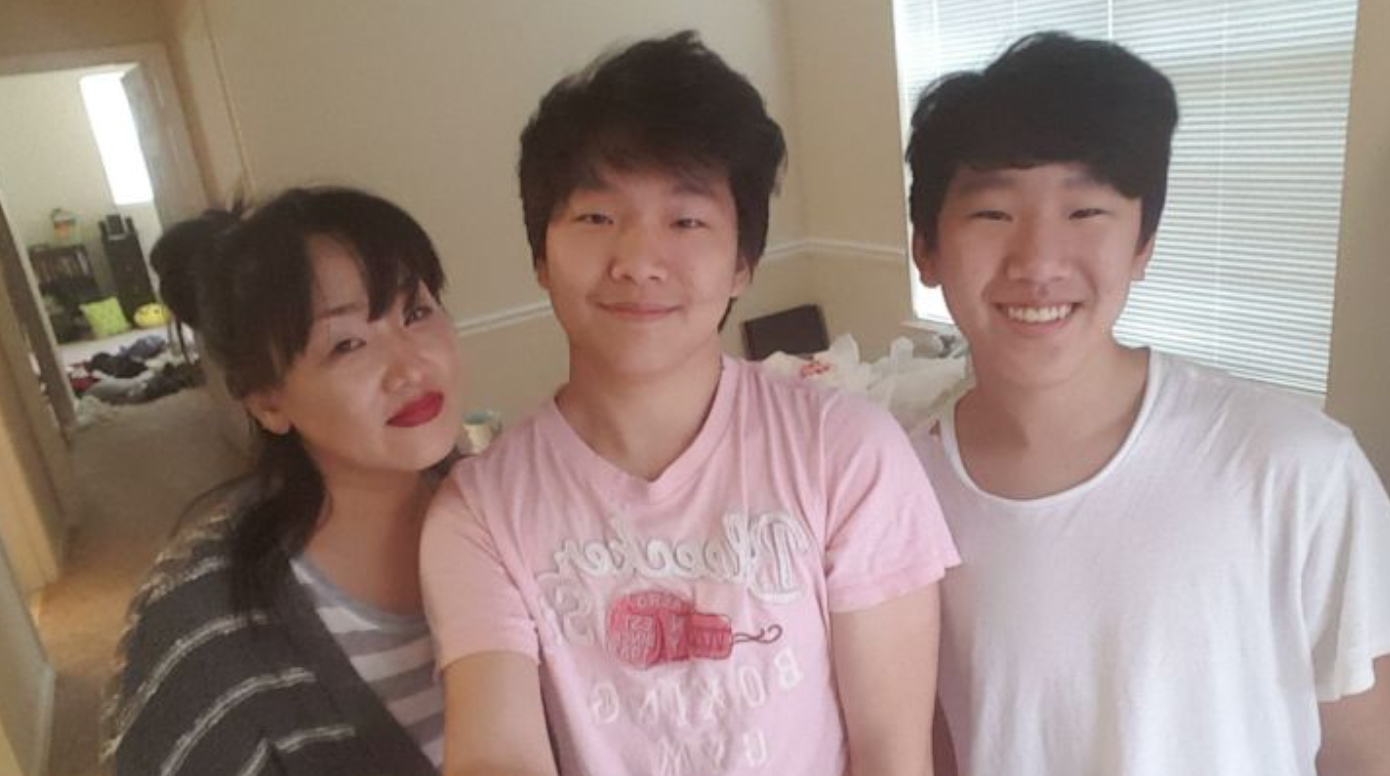 Hyun Jung Grant with sons (Randy Park)
