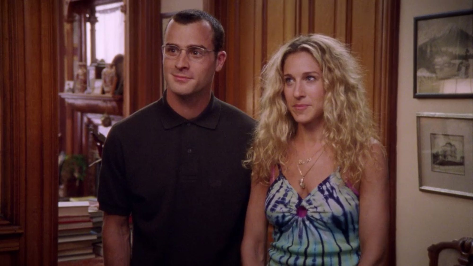 Sex and the City Season 2, Episode 15 Justin Theroux and Sarah Jessica Parker