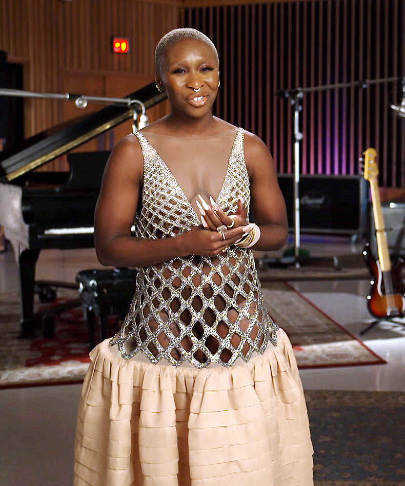 Cynthia Erivo during the 52nd NAACP Image Awards on March 27, 2021.