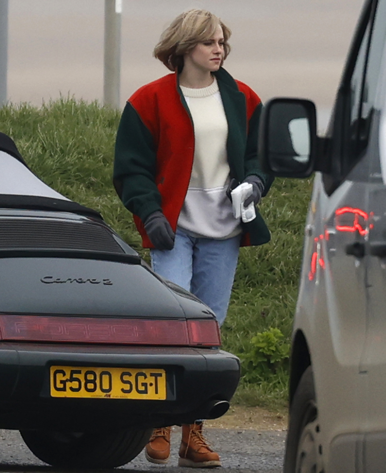 Kristen Stewart is seen in character as Princess Diana