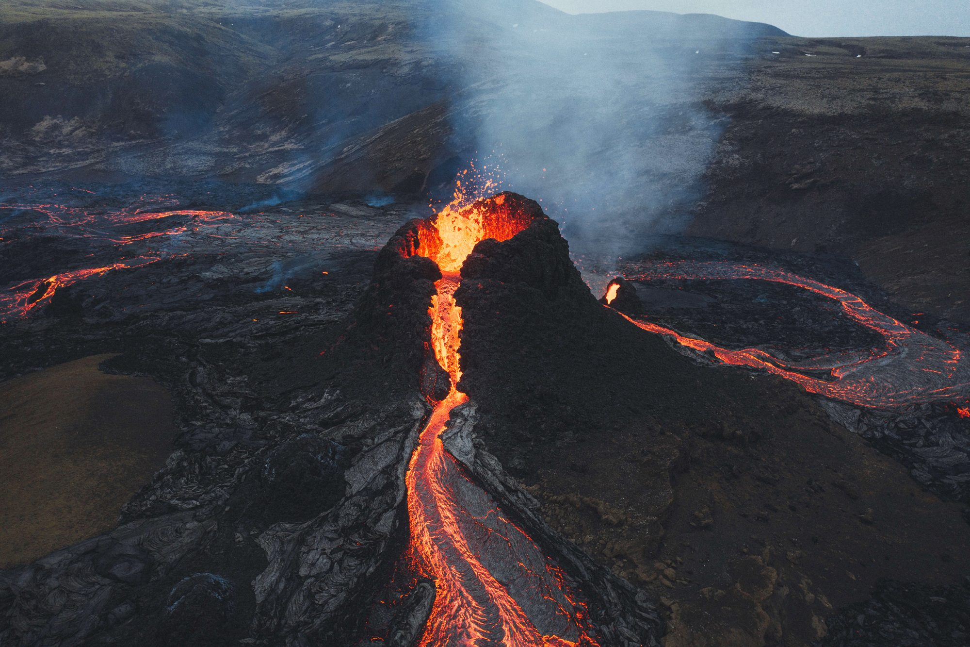 Mount Fagradalsfjall Erupts In Iceland