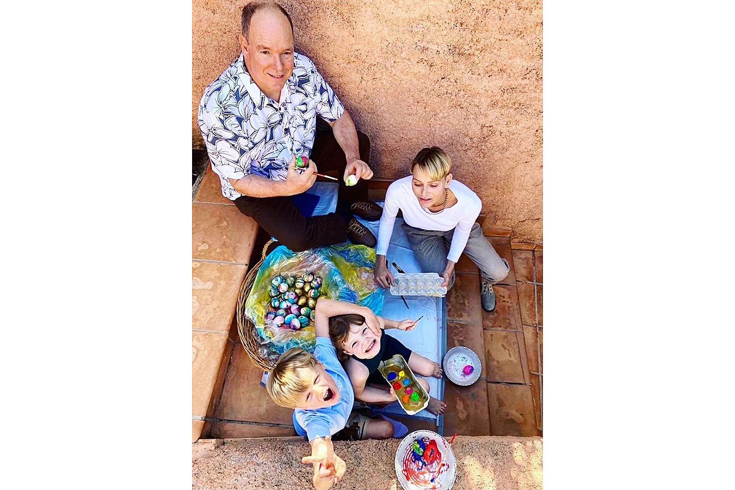 Monaco Royals Paint Eggs for Easter