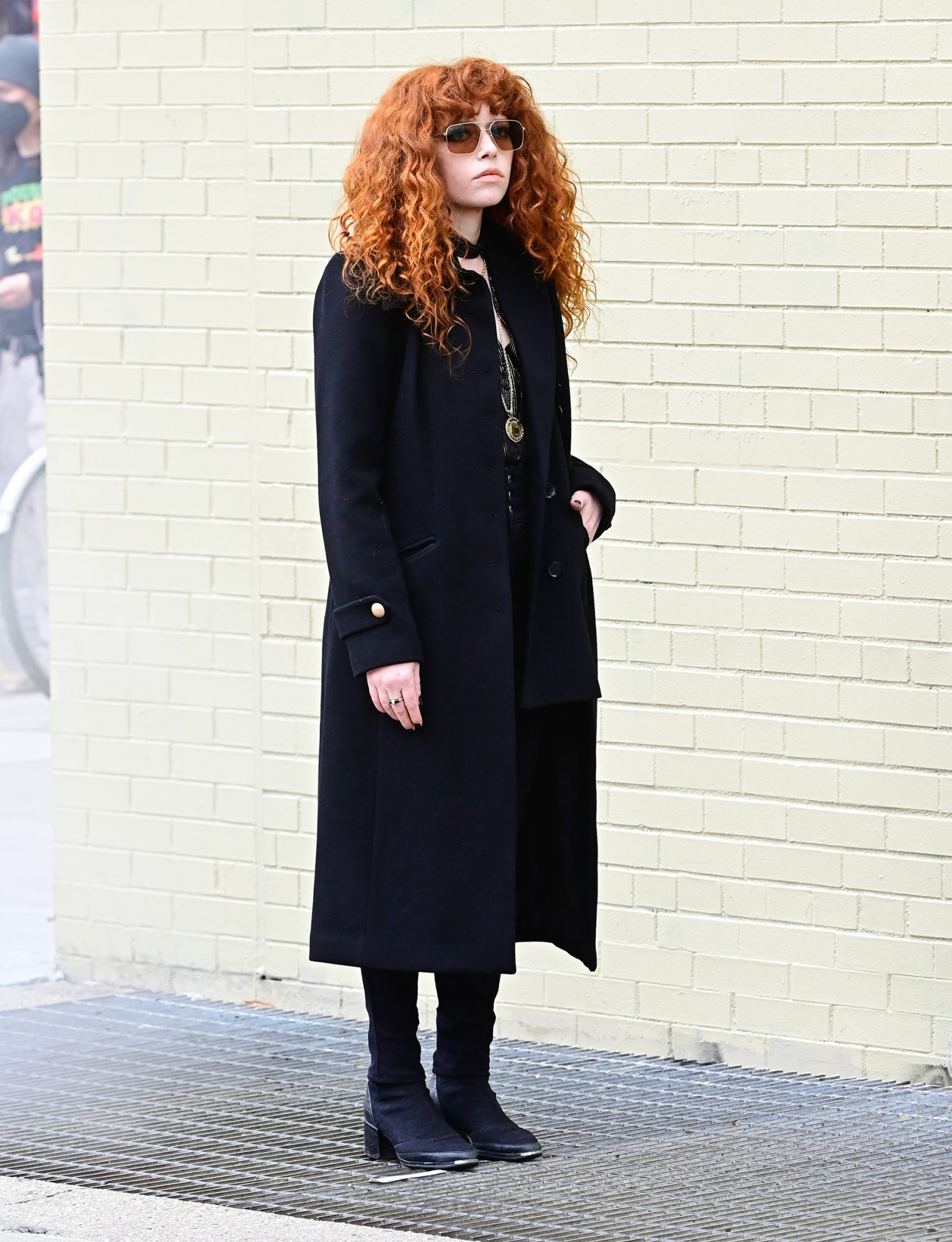 Natasha Lyonne is seen in SoHo on April 1, 2021 in New York City