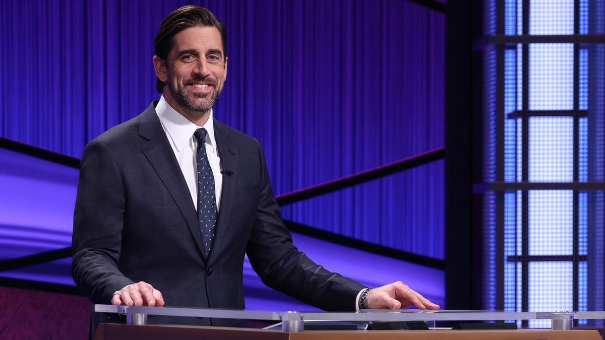 Aaron Rodgers hosting Jeopardy