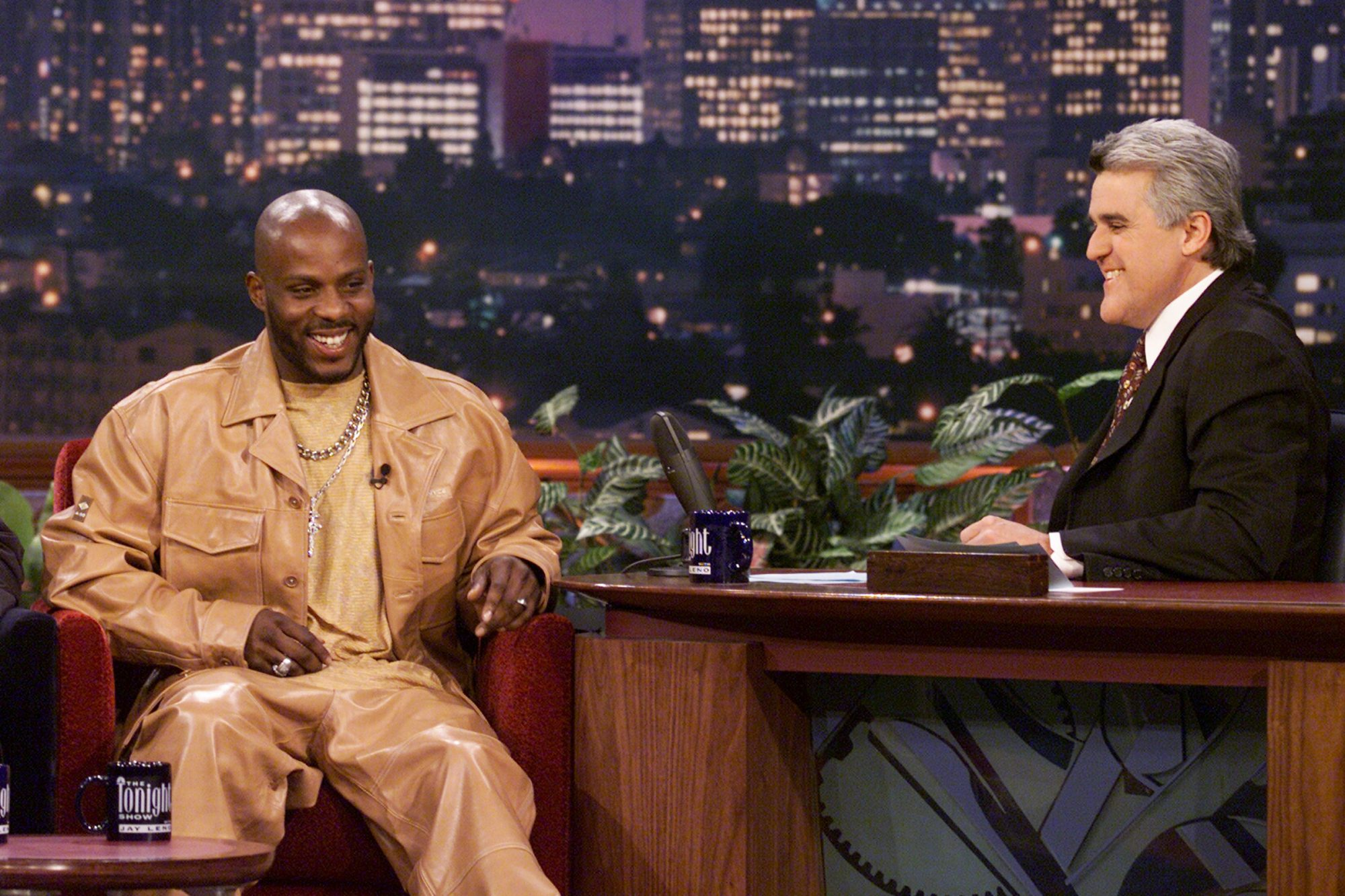 DMX during an interview with host Jay Leno on March 13, 2001