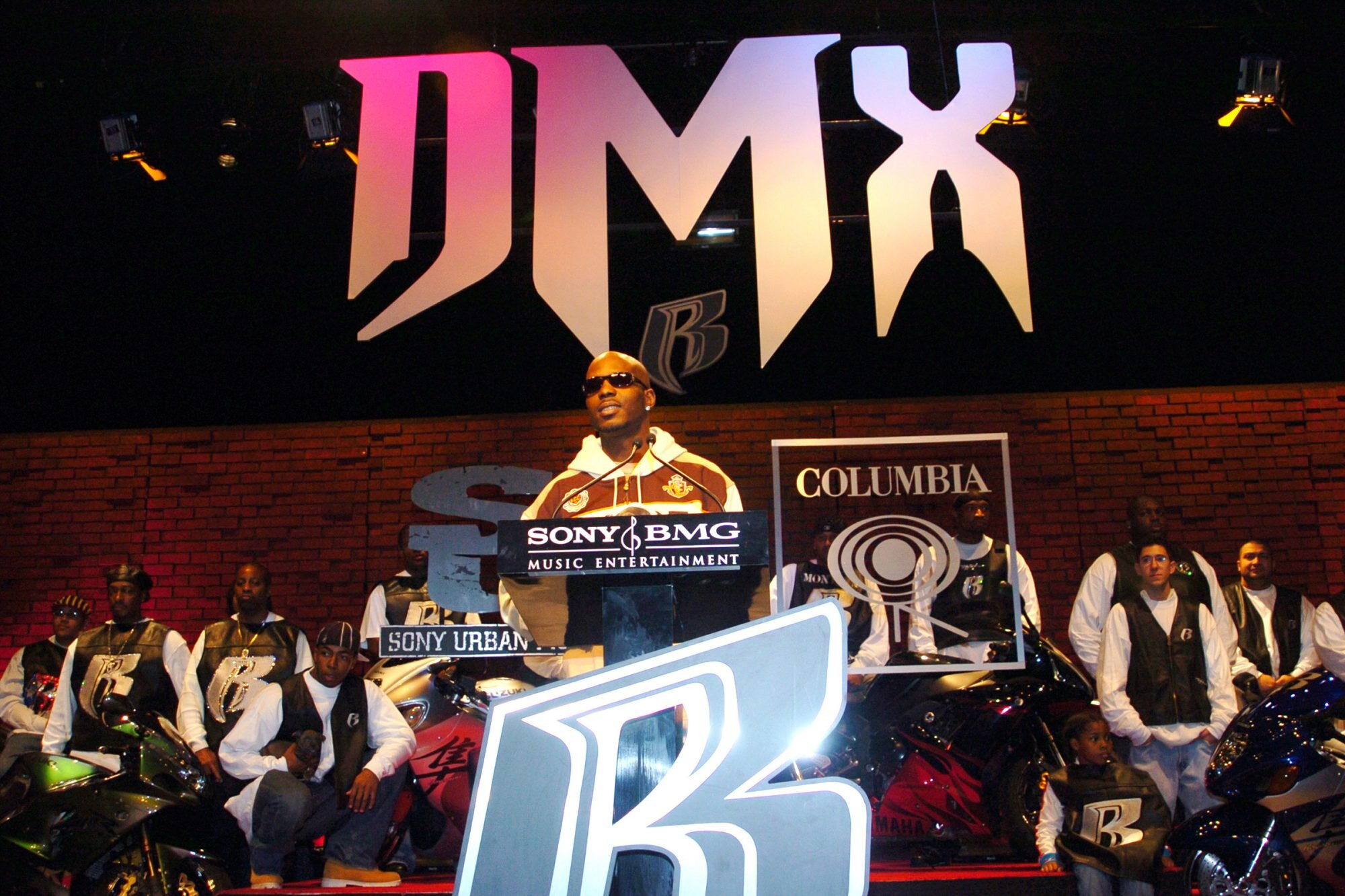 DMX during DMX Signs to Sony Urban Music/Columbia Records - Press Conference at 447 West 53rd Street in New York City