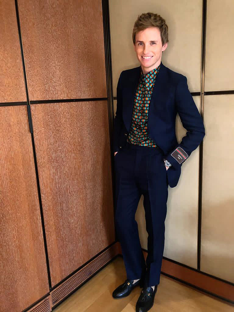 Eddie Redmayne selected the Seamaster Aqua Terra Co-Axial Chronometer from OMEGA