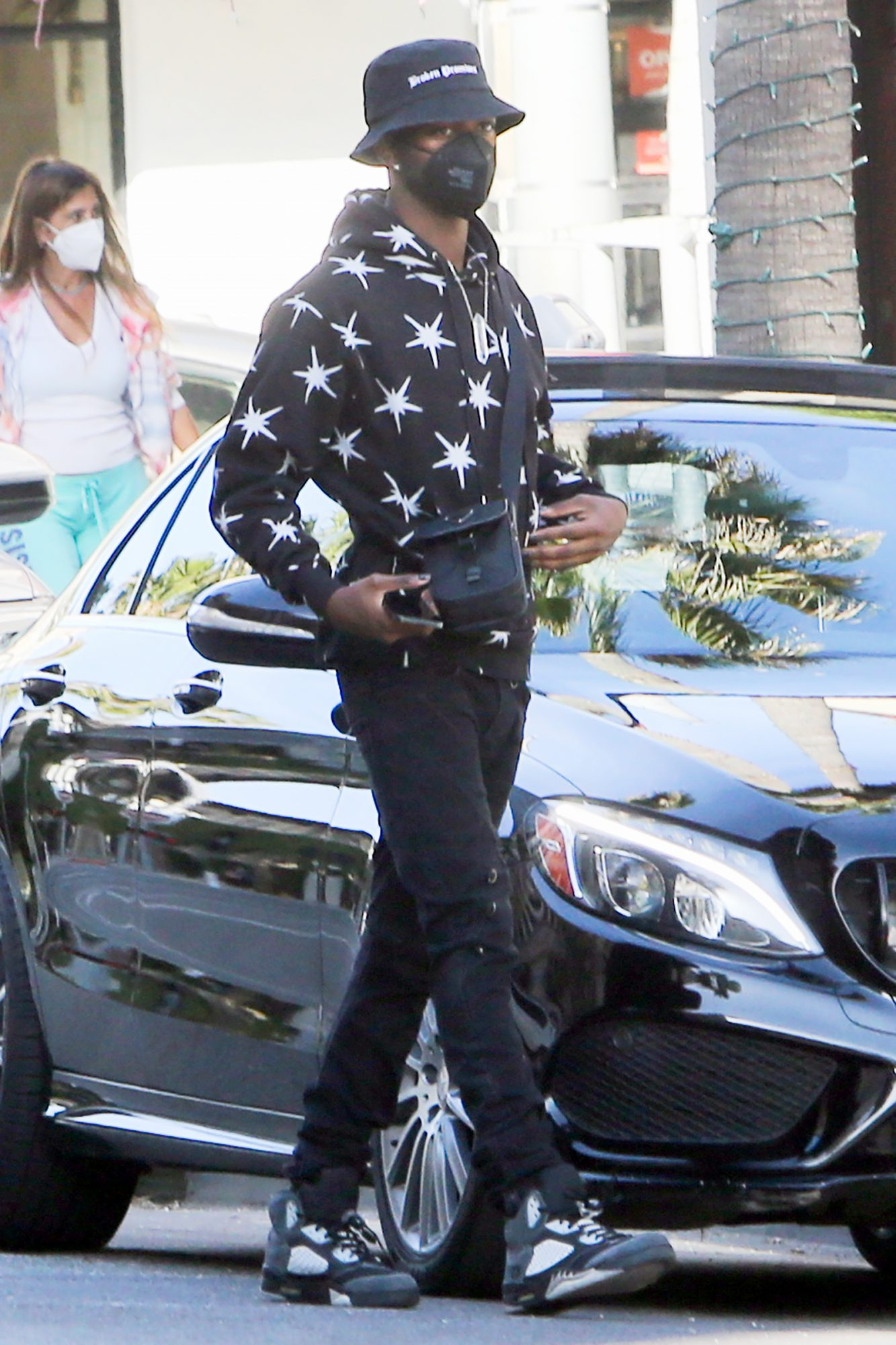 Lil Nas X stepped out for a Rodeo Drive shopping trip wearing Air Jordans amid his legal battle with Nike over his controversial Satan Shoes