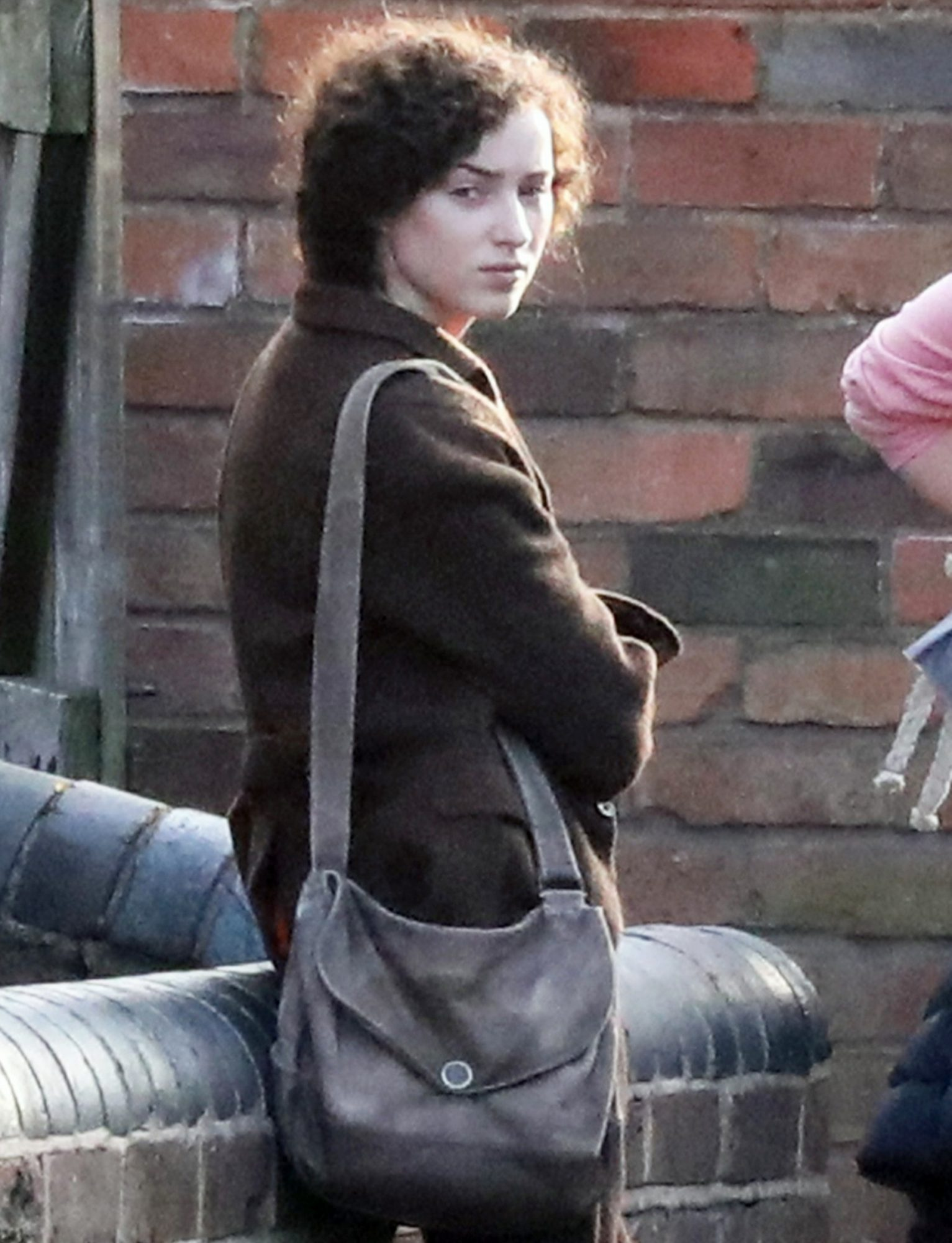 Phoebe Dynevor, Mathew Goode And Darci Shaw Seen Filming Scenes At The Black Country Museum In Birmingham