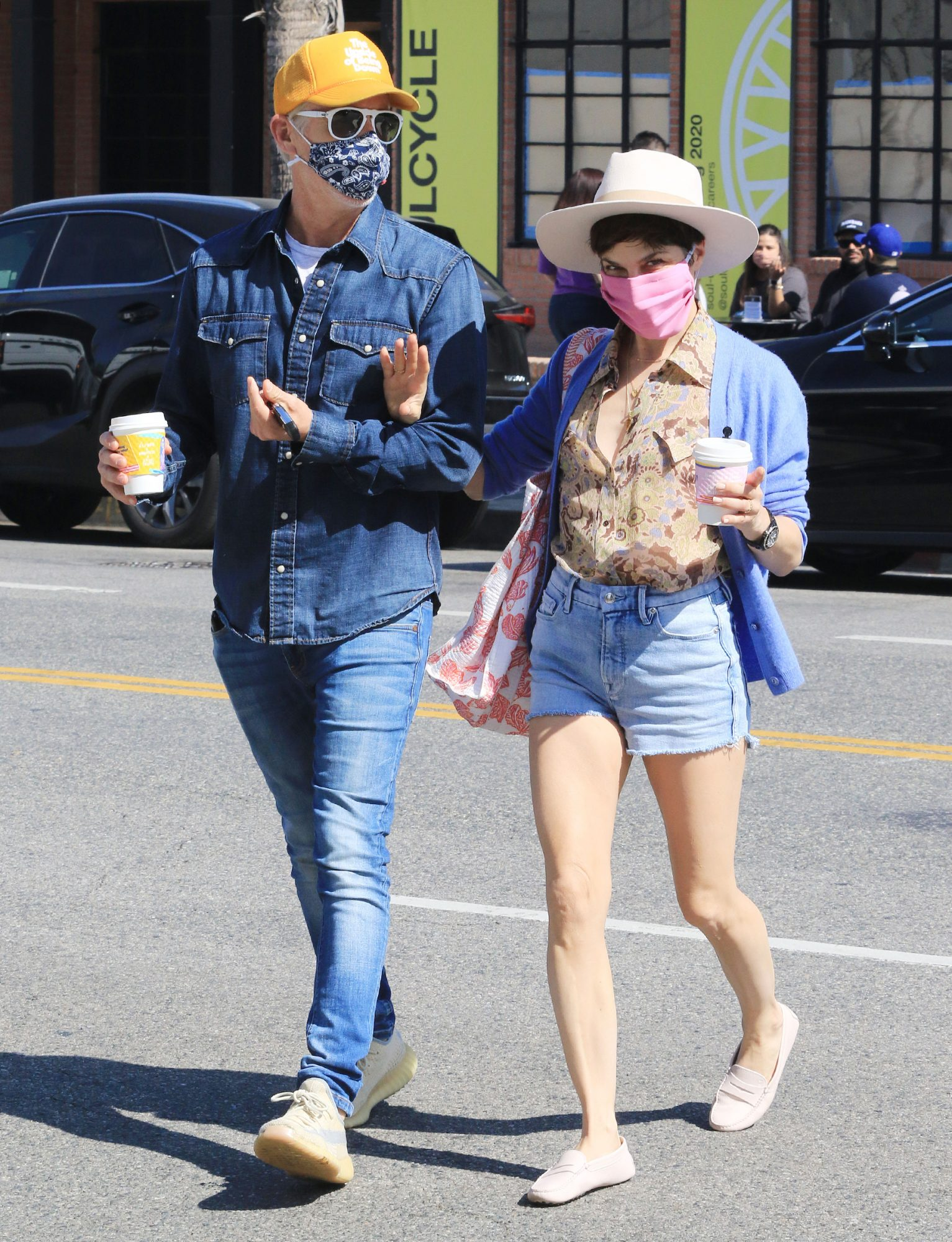 Selma Blair is spotted getting Alfred coffee with Ron Carlson in Los Angeles