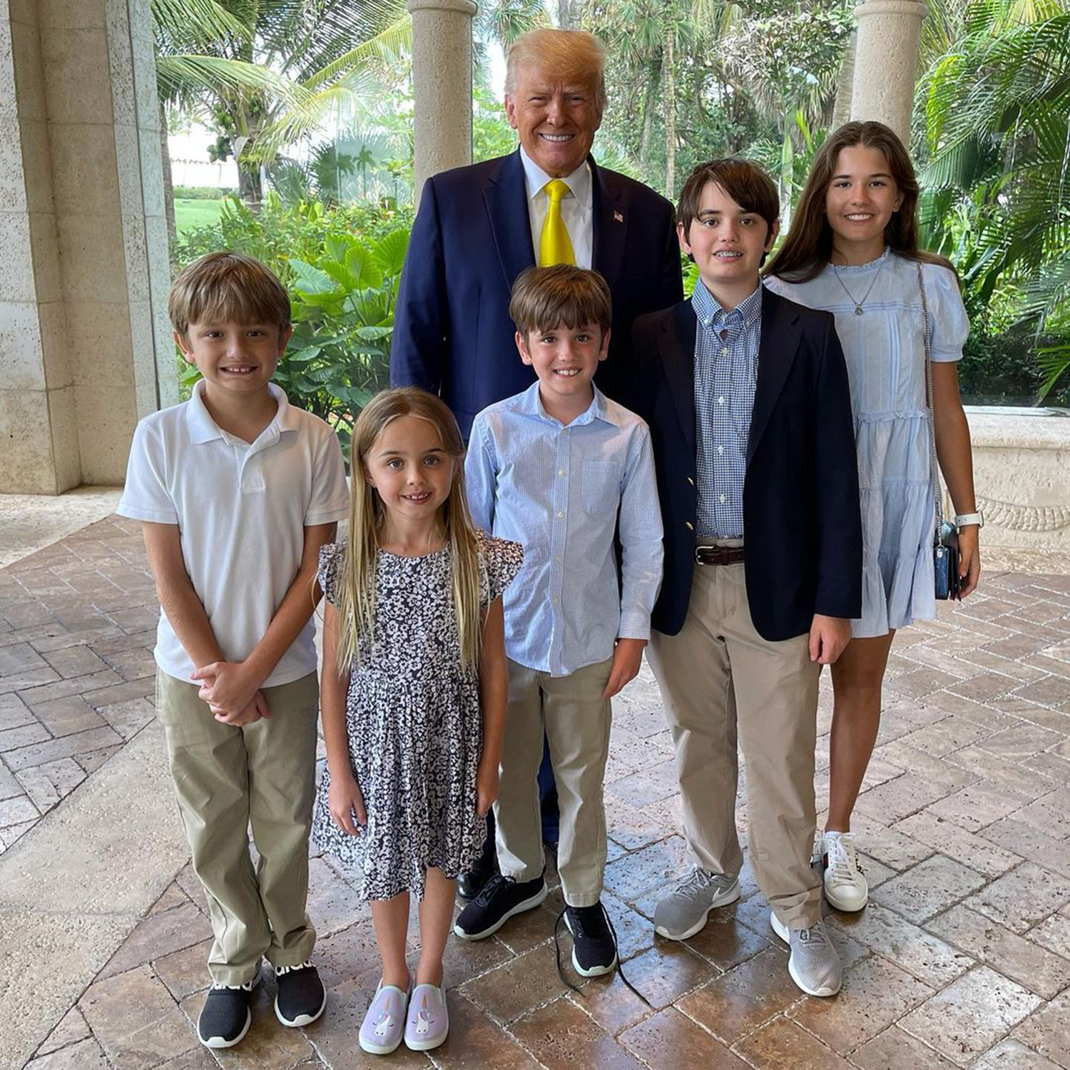 Trumps Celebrate EasterWith Church Service, Easter egg Hunt at Mar-a-Lago