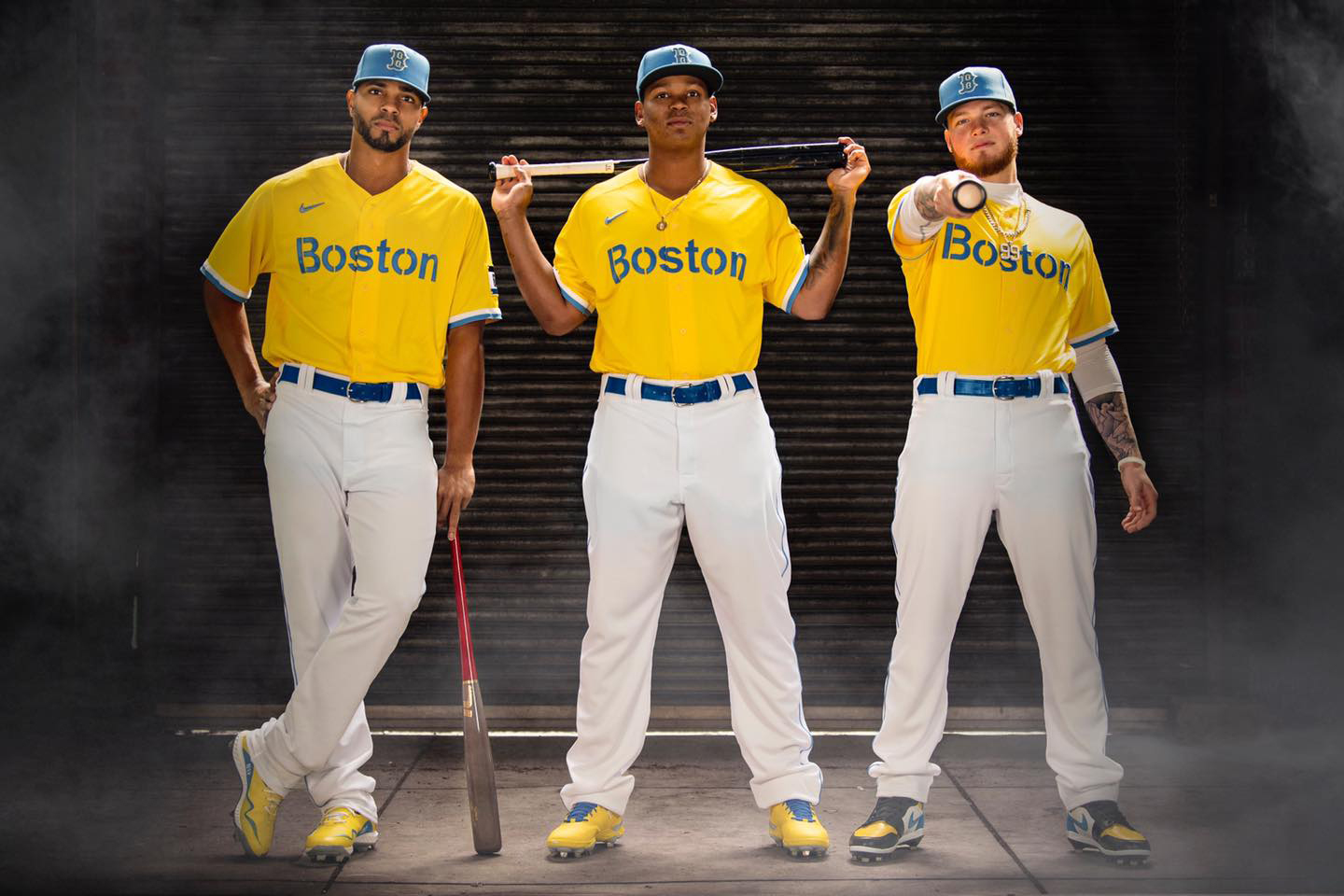 Boston Red Sox Debut New Yellow and Blue Uniforms Inspired by Boston Marathon