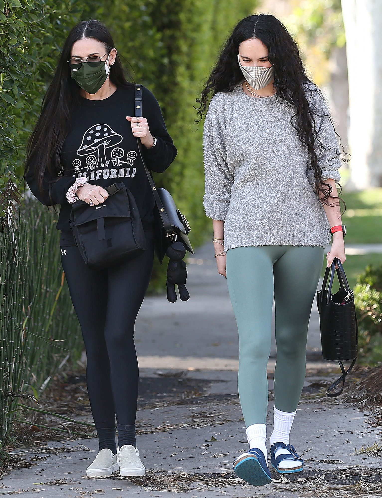 Rumer Willis and Demi Moore leaving pilates classes together in West Hollywood