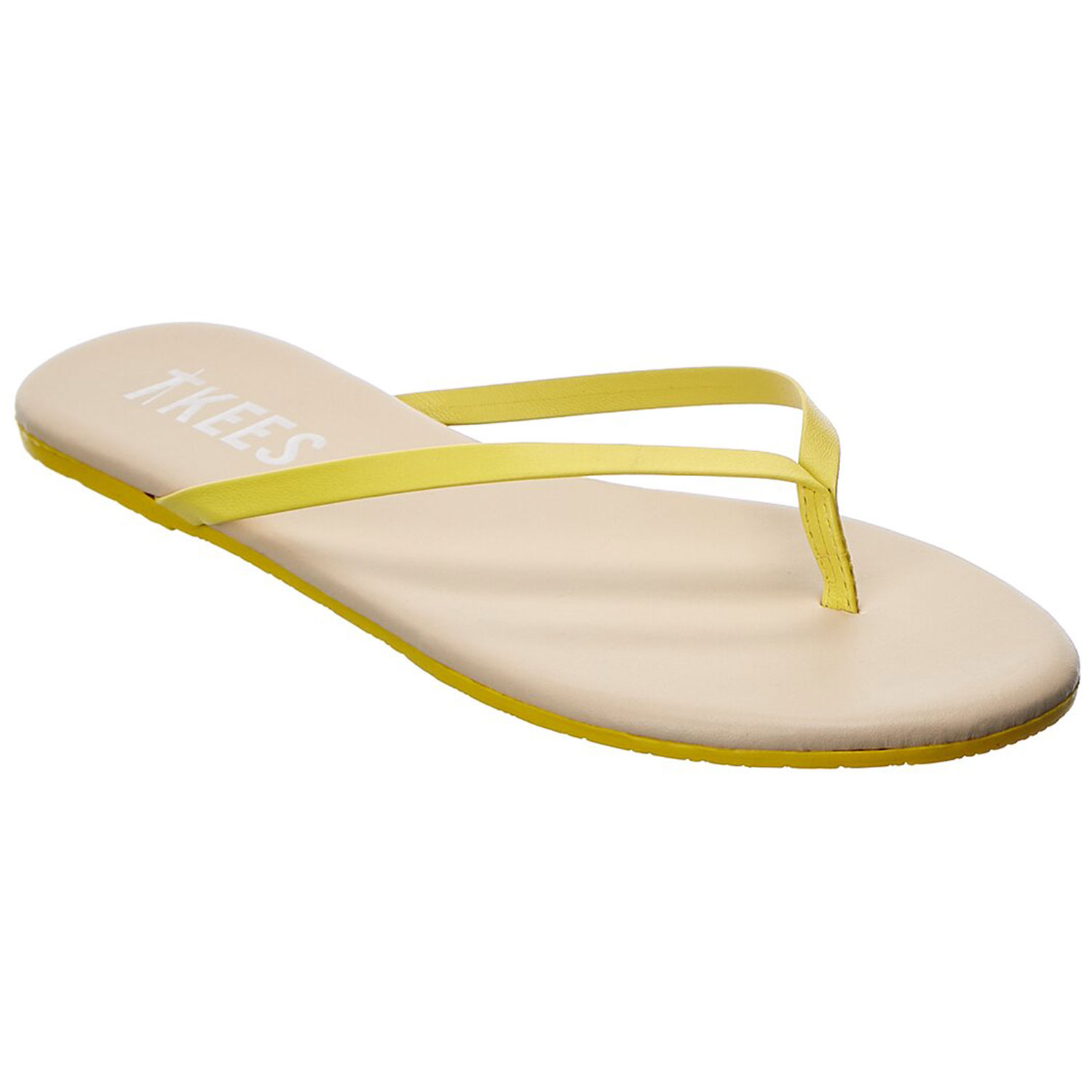 TKEES Leather Flip Flop on Gilt