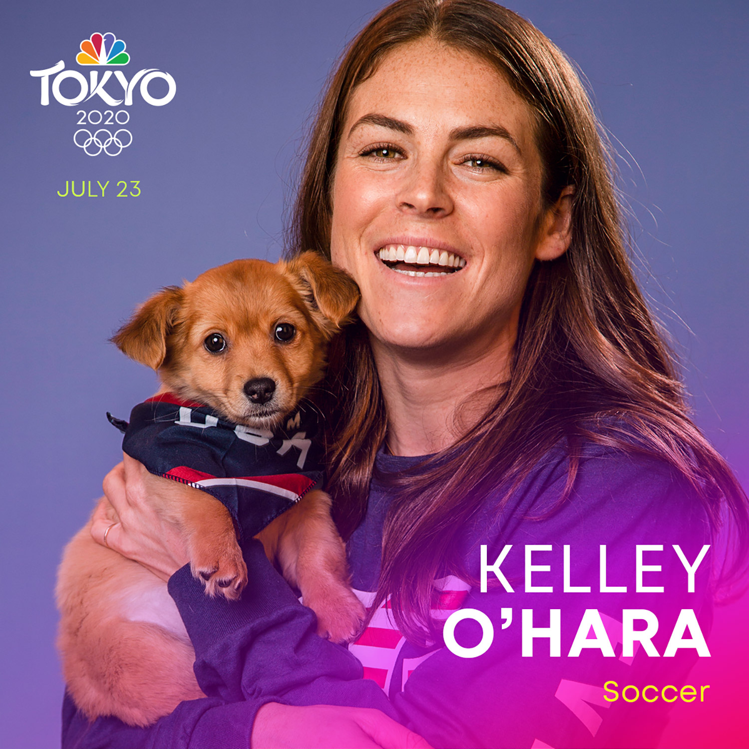 Olympians with rescue pets