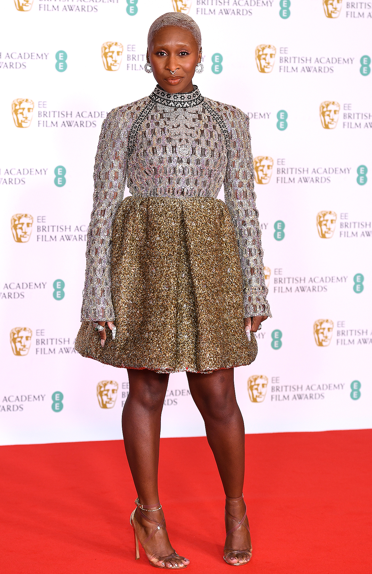 Presenter Cynthia Erivo attends the EE British Academy Film Awards 2021 at the Royal Albert Hall on April 11, 2021 in London, England.