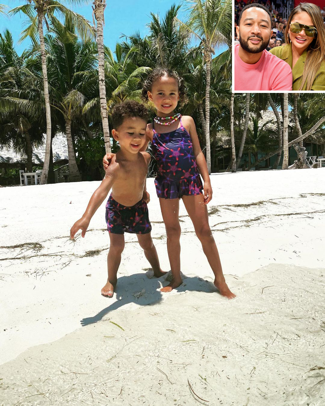 Chrissy Teigen and John Legend's Cutest Snaps of 'BFF' Daughter Luna and Son Miles on Vacation
