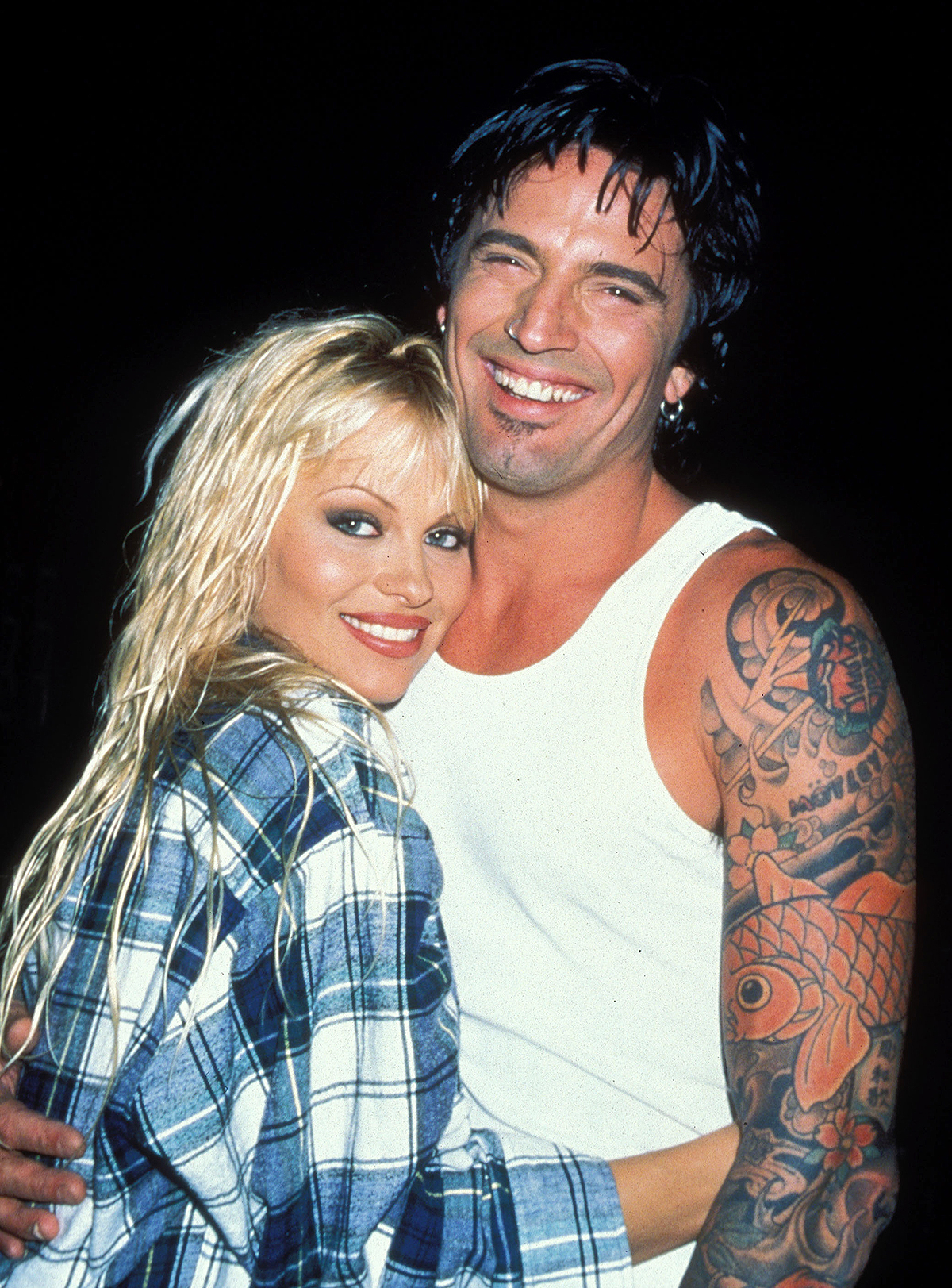 Pamela Anderson and Tommy Lee at the Planet Boom in North Hollywood, California