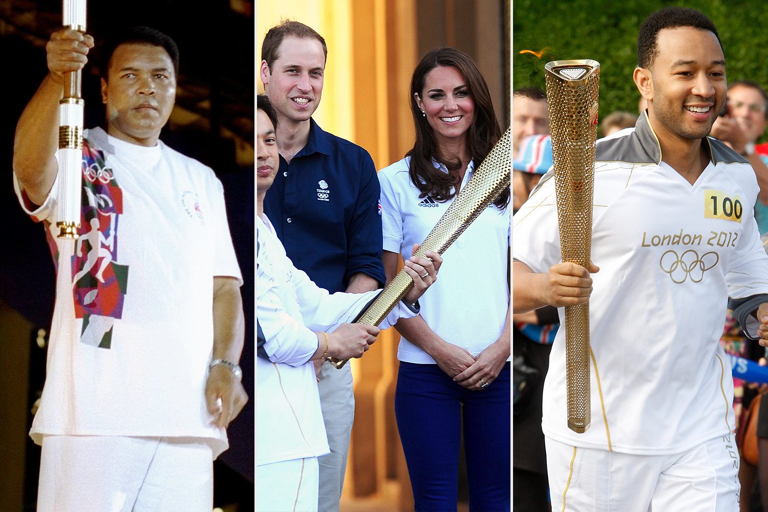 Celebrities Olympic torch