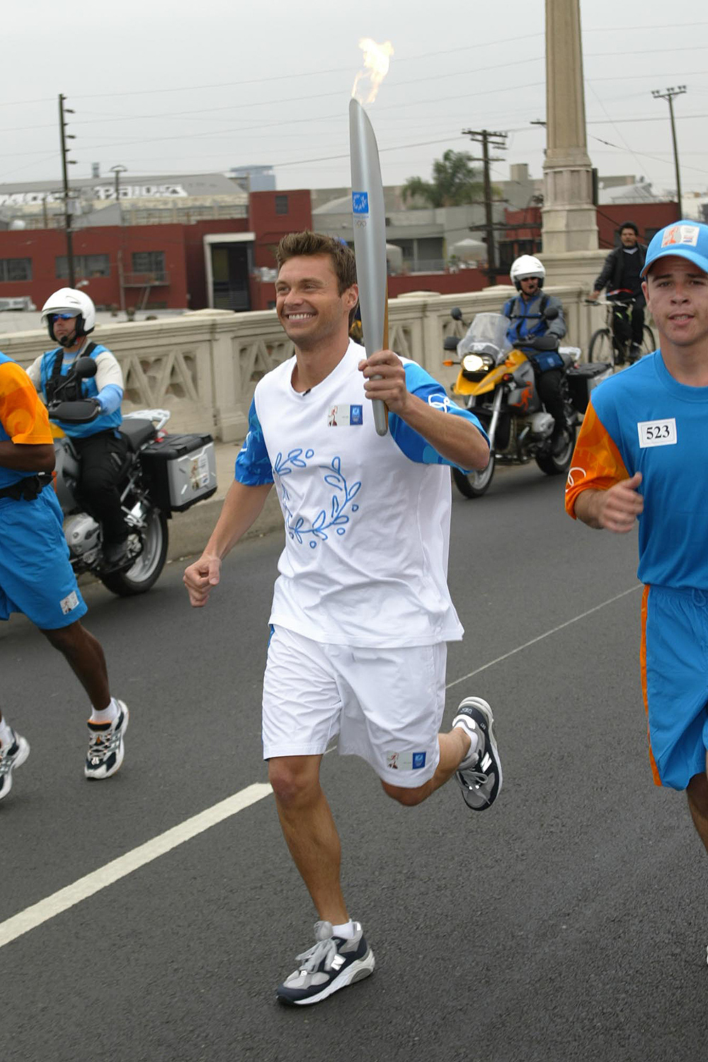 celebs Olympic torch relay