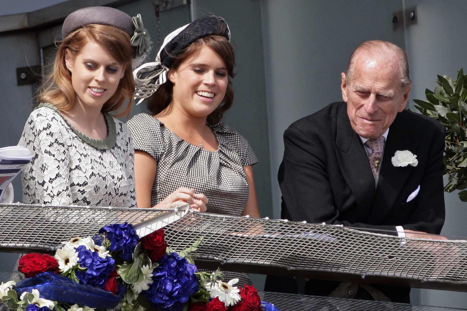Princess Beatrice, Princess Eugenie and Prince Philip, Duke of Edinburgh