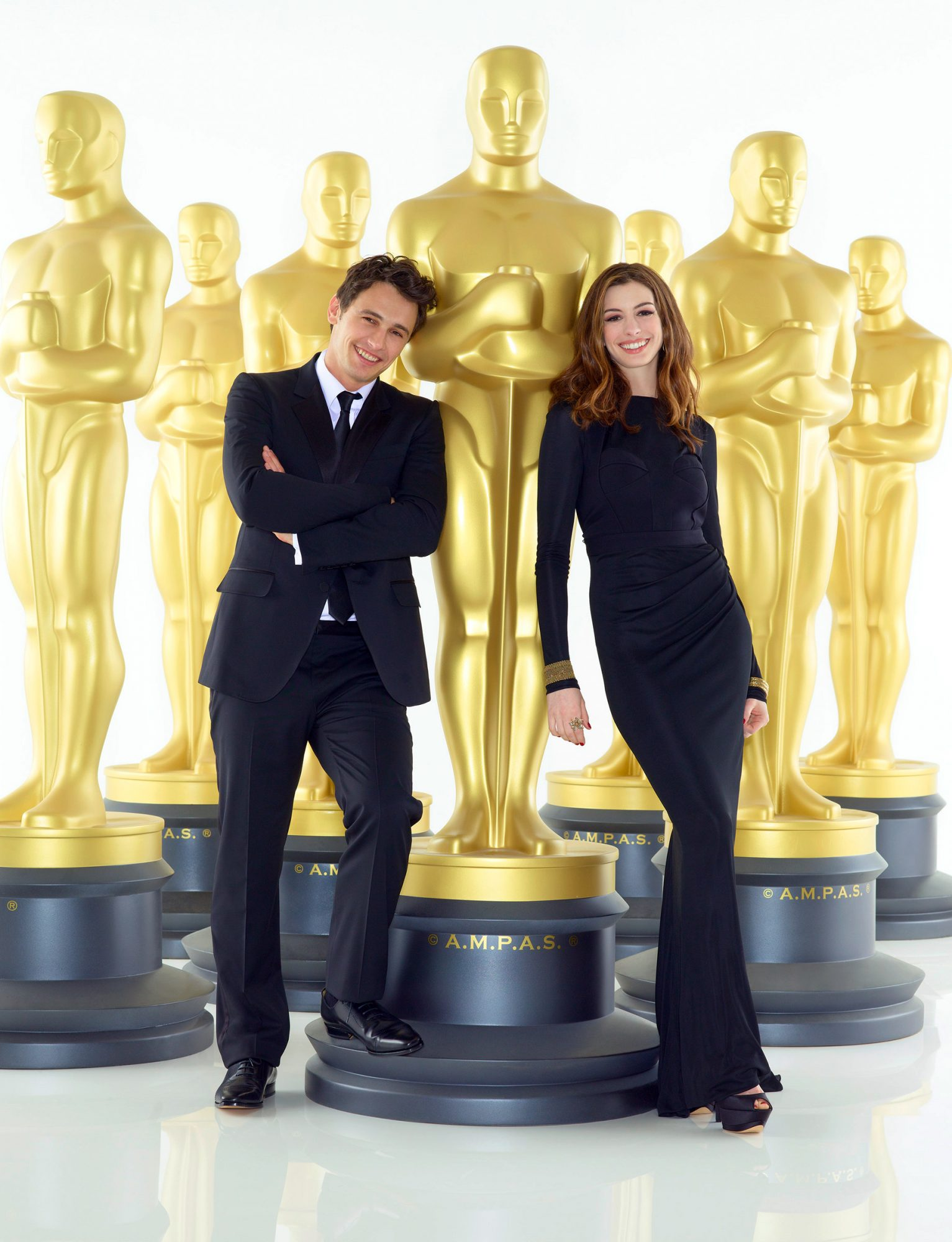 James Franco and Anne Hathaway during the 83rd Annual Academy Awards