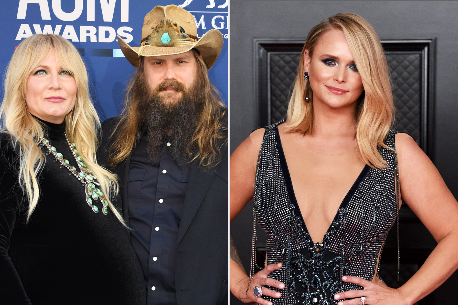 Morgane and Chris Stapleton; Miranda Lambert