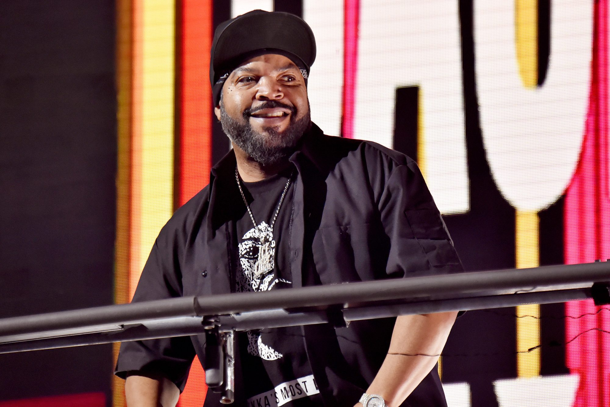 Ice Cube of hip-hop supergroup Mt. Westmore performs during the Triller Fight Club: Jake Paul v Ben Askren event at Mercedes-Benz Stadium in Atlanta, Georgia
